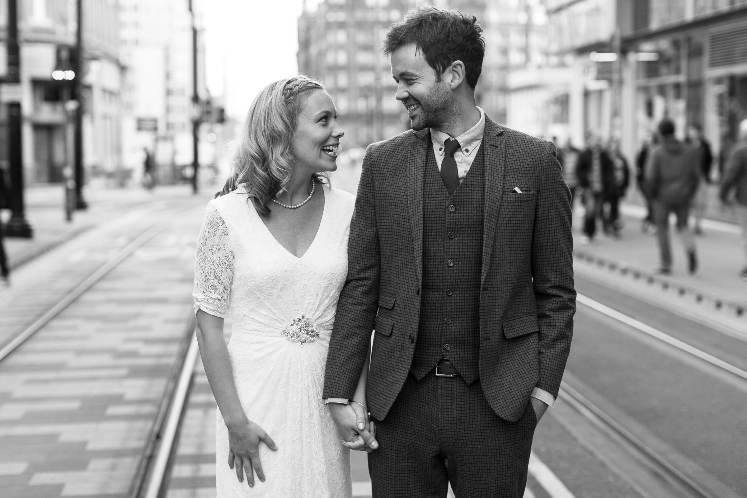Relaxed wedding photography in Manchester