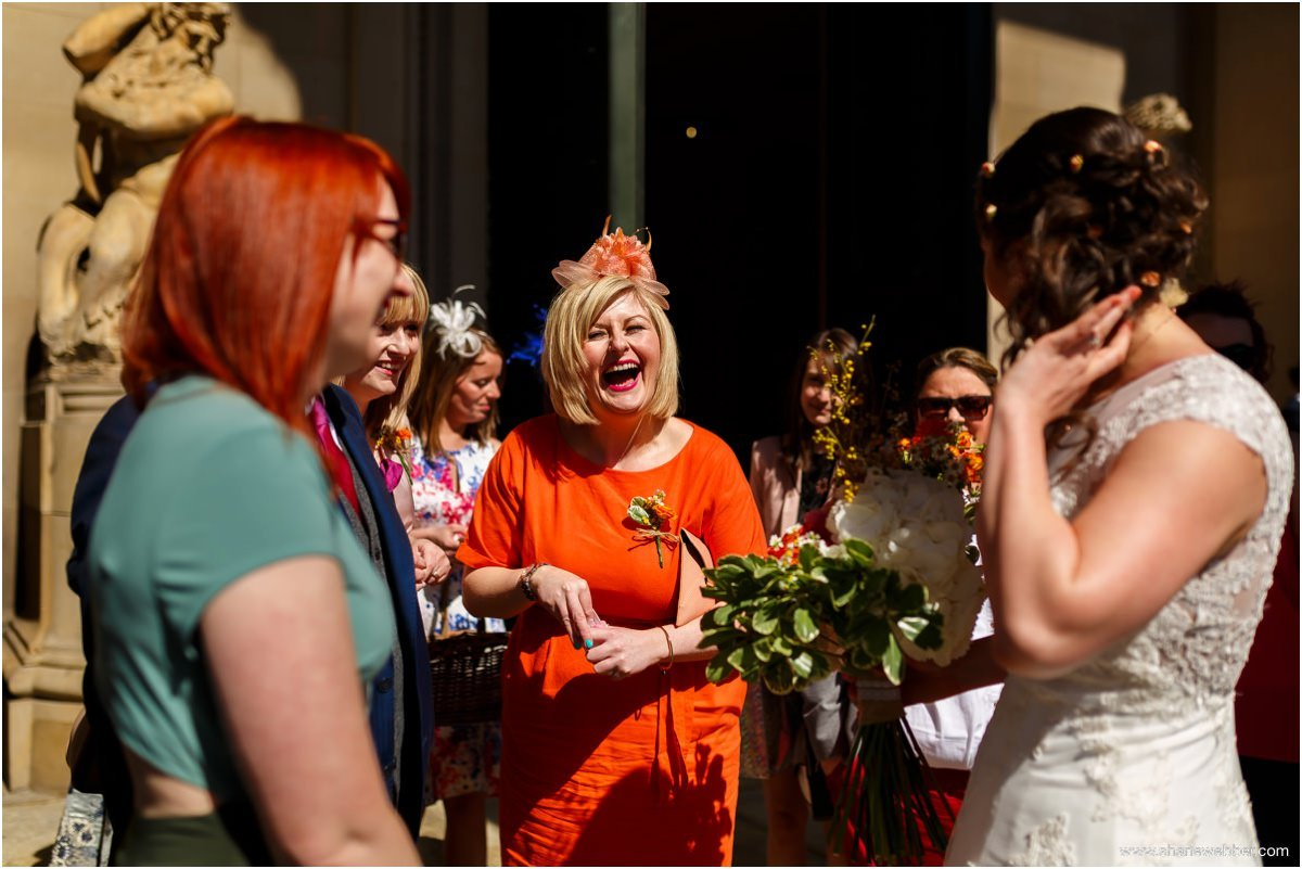 Wedding guests at Liverpool wedding