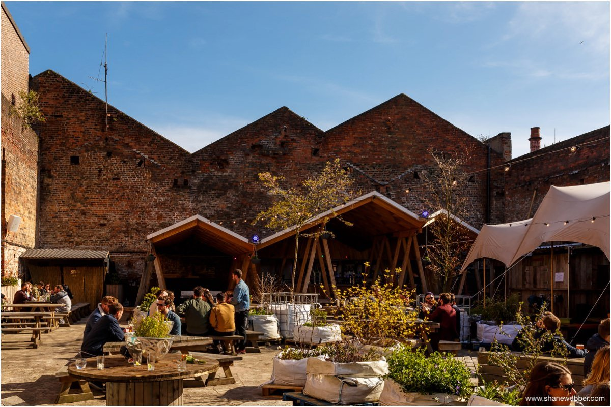 Garden outside at Constellations Liverpool