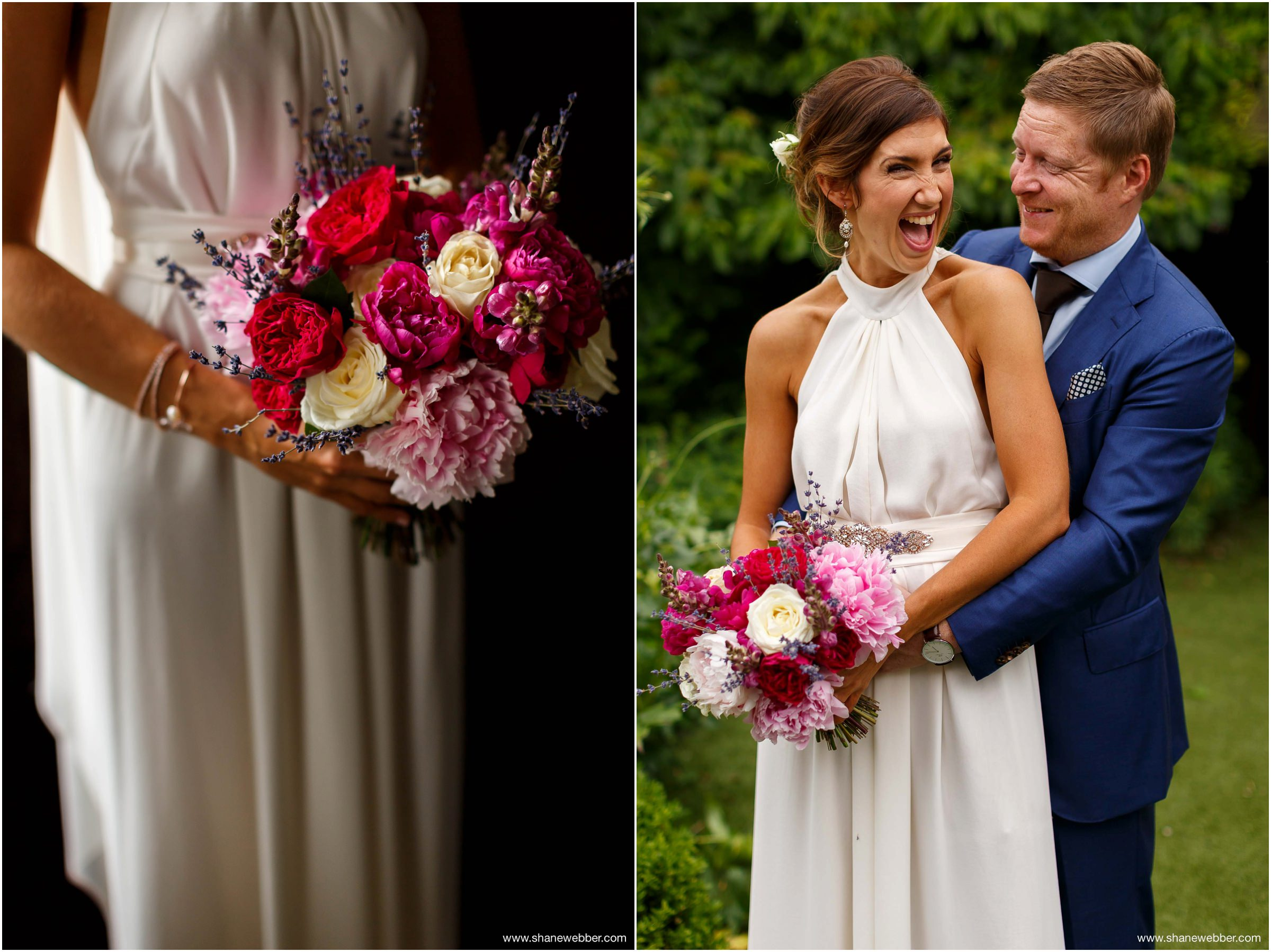 Australian bride and groom at English wedding