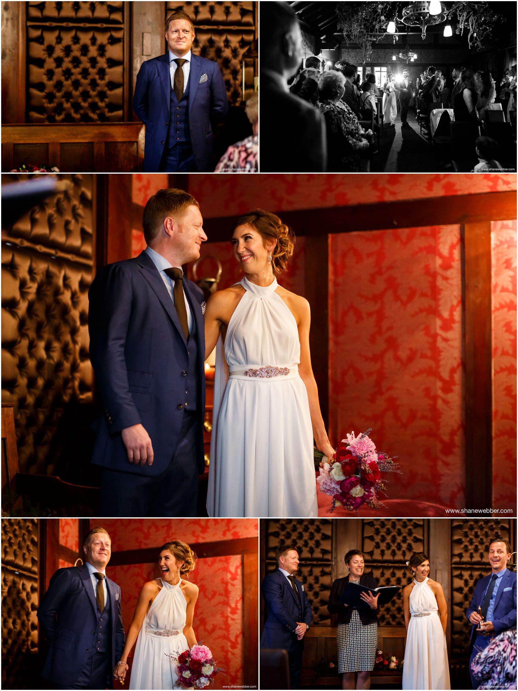 Wedding ceremony at Belle Epoque