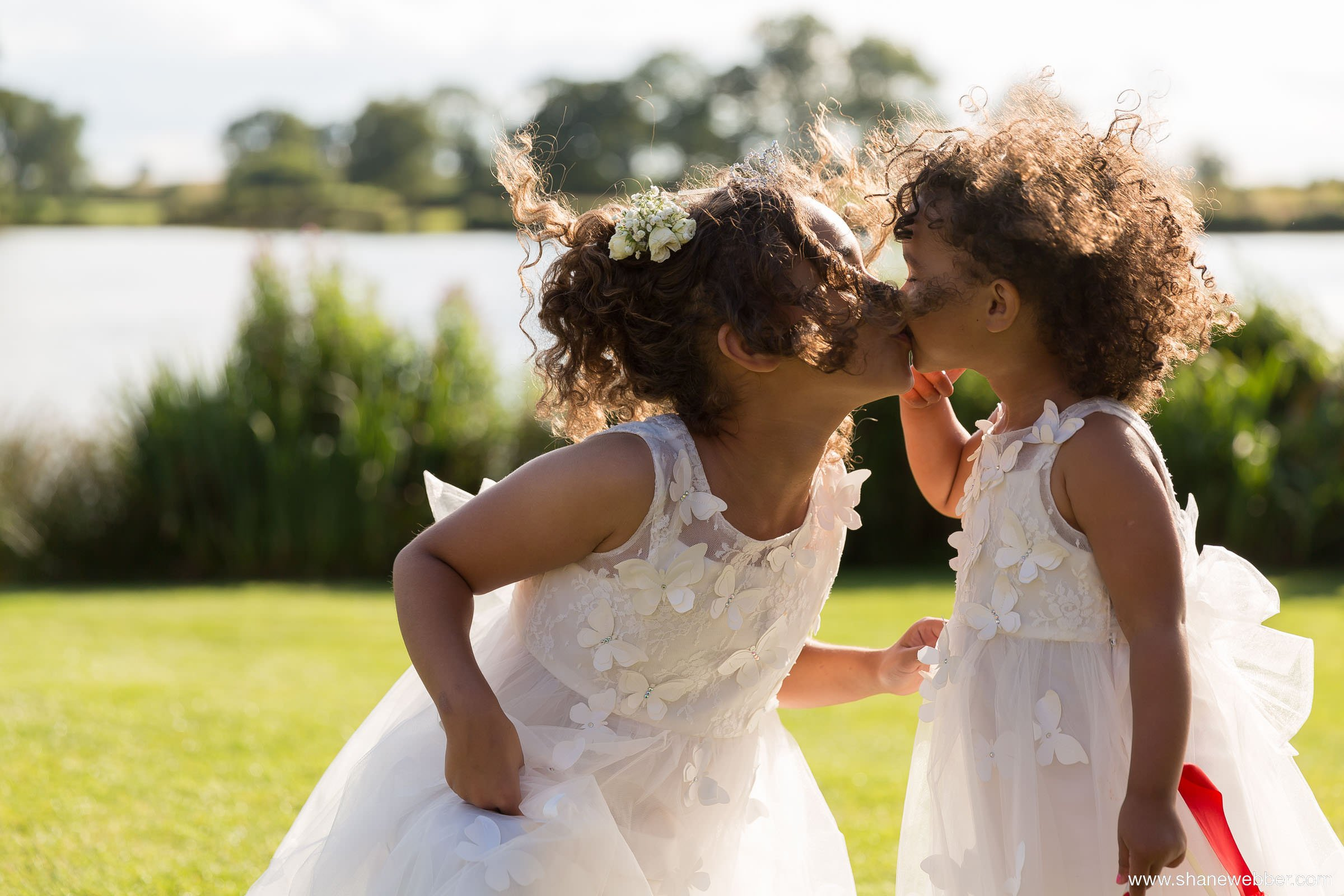 Cute flower girls at wedding