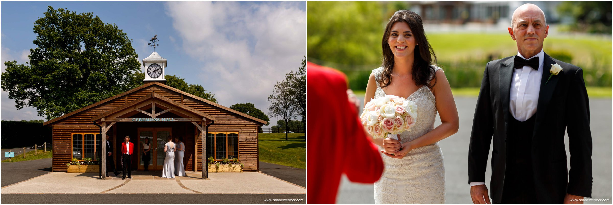 Bride with her Dad at The Stables