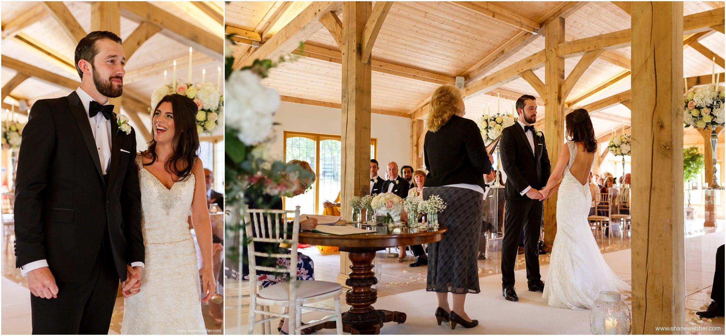 Wedding ceremony at Colshaw Hall