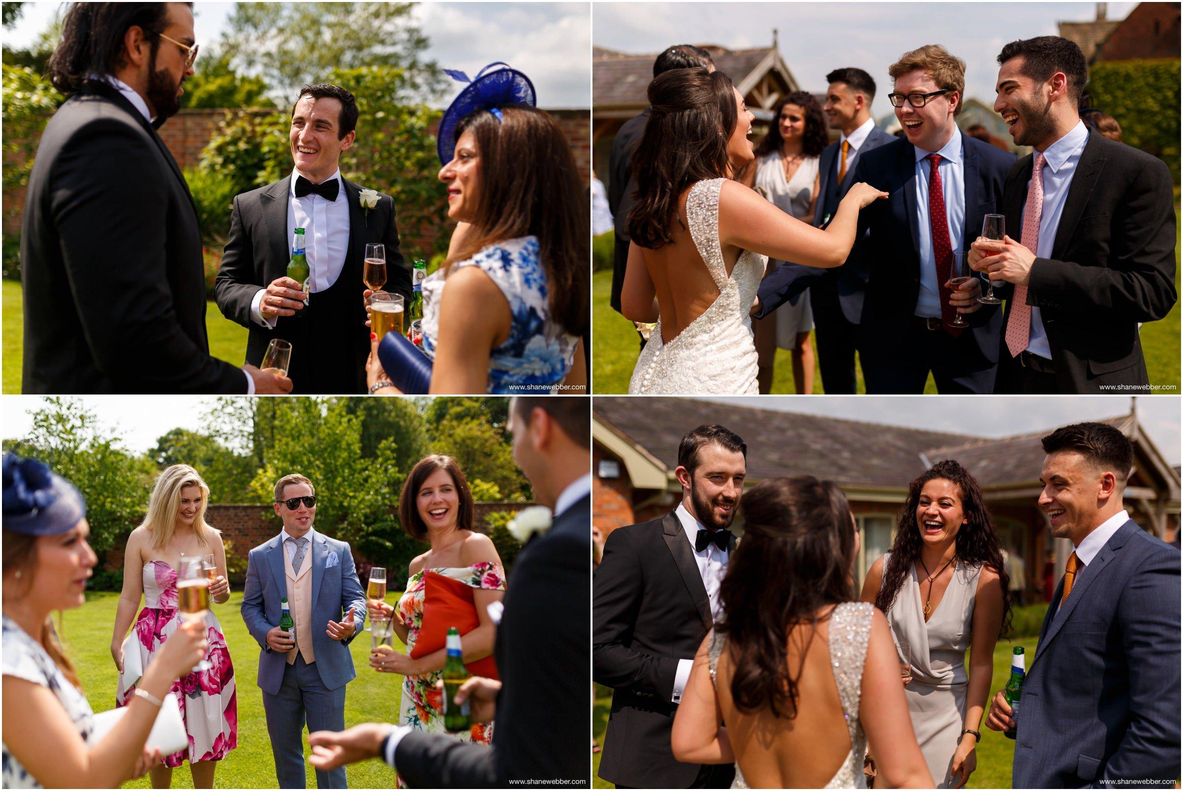 Natural wedding photos at Colshaw Hall