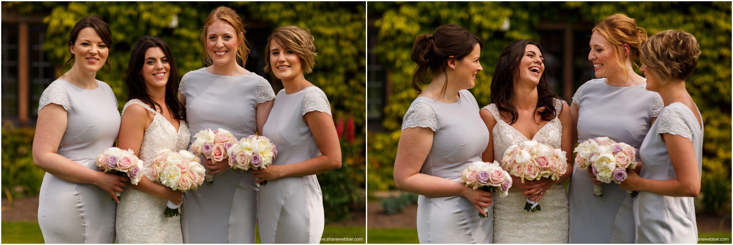 Natural photo of bride and bridesmaids