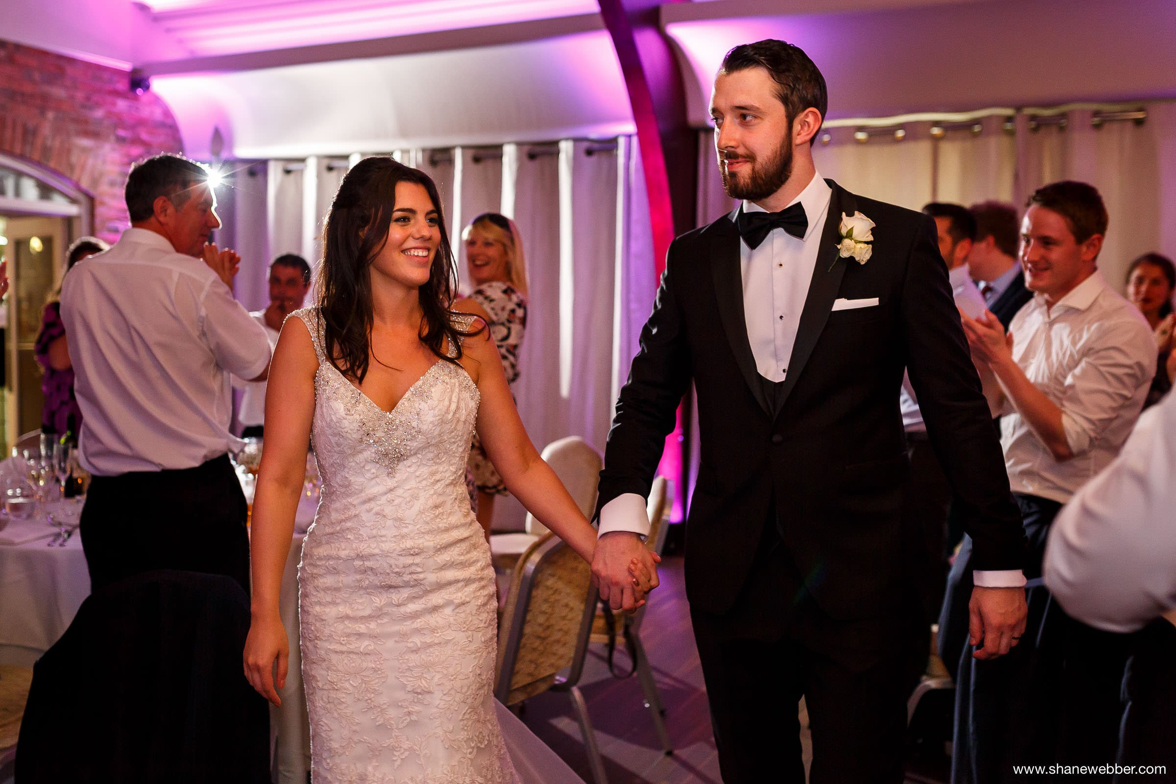 Bride and groom announced into the Peel Suite