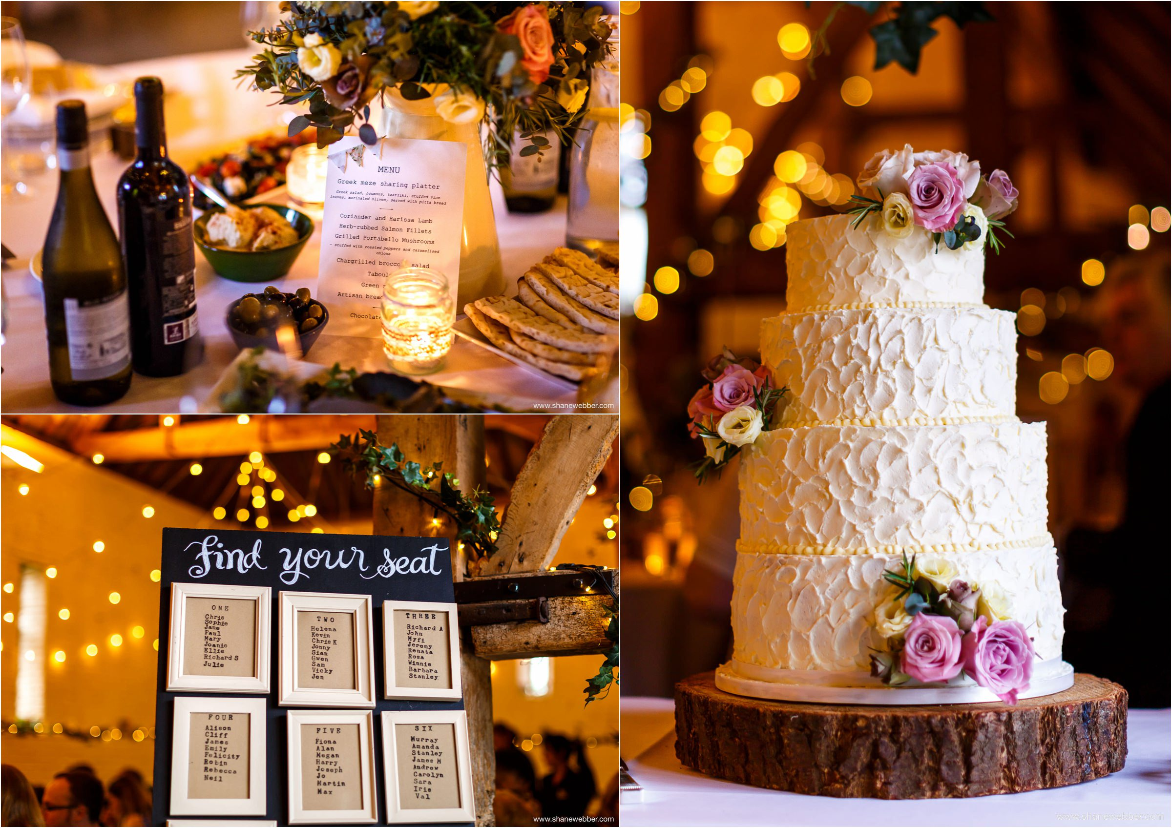 Wedding cake and table plan