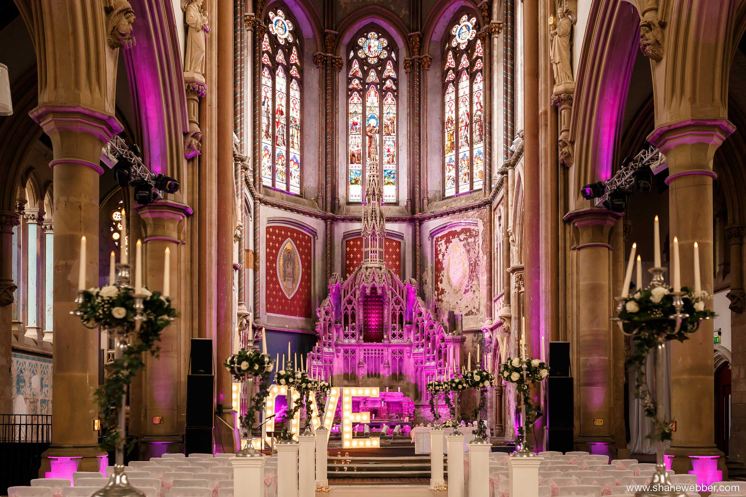 Ceremony room at the Gorton Monastery Manchester