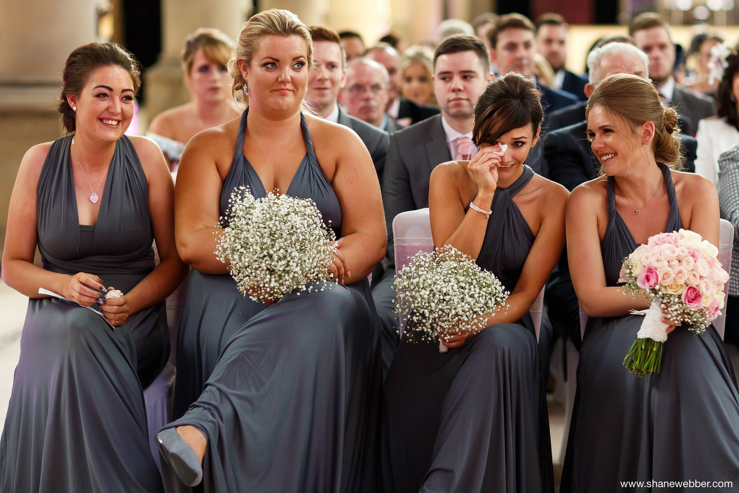 Emotional wedding ceremony photos