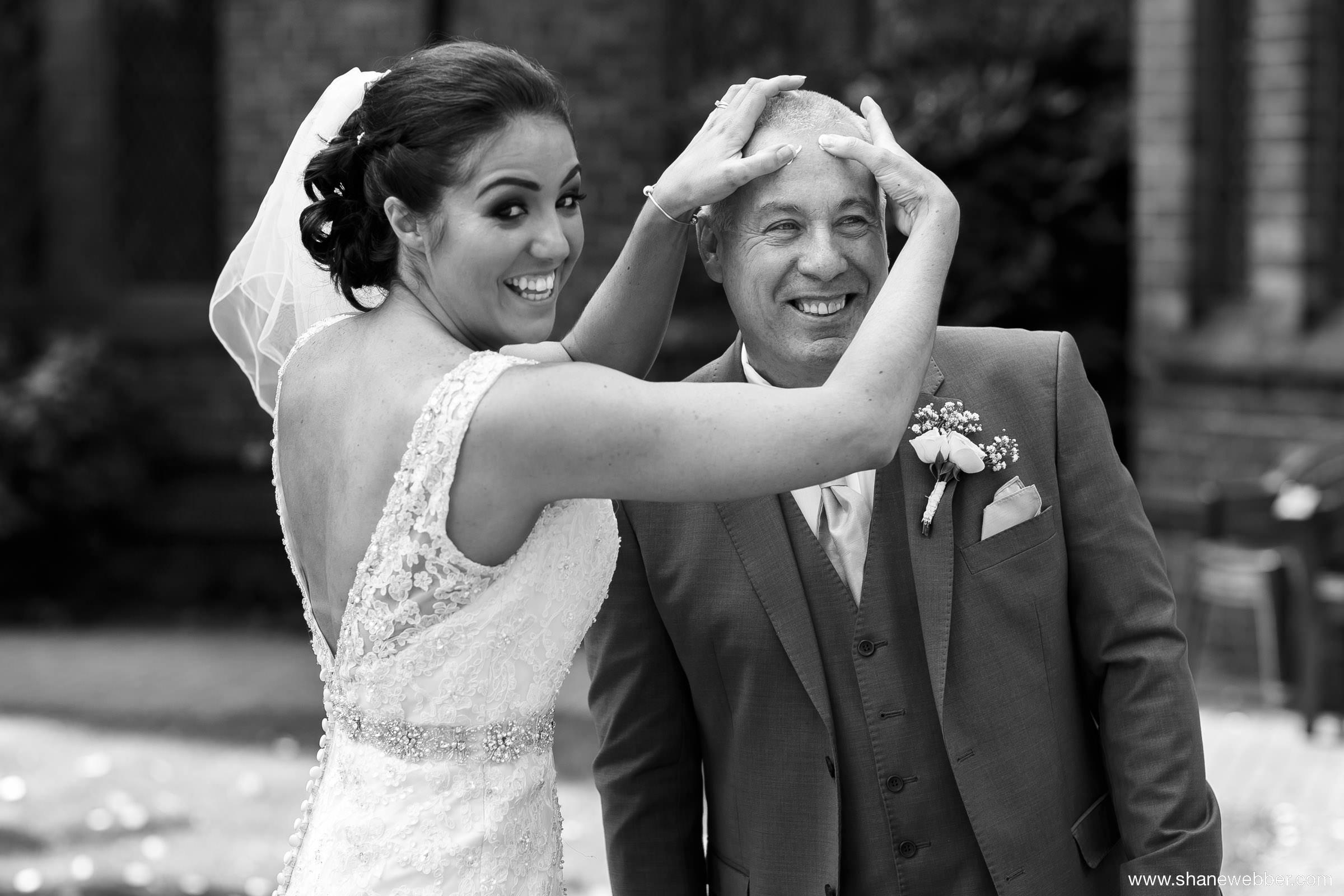 Natural wedding photography at the Gorton Monastery Manchester