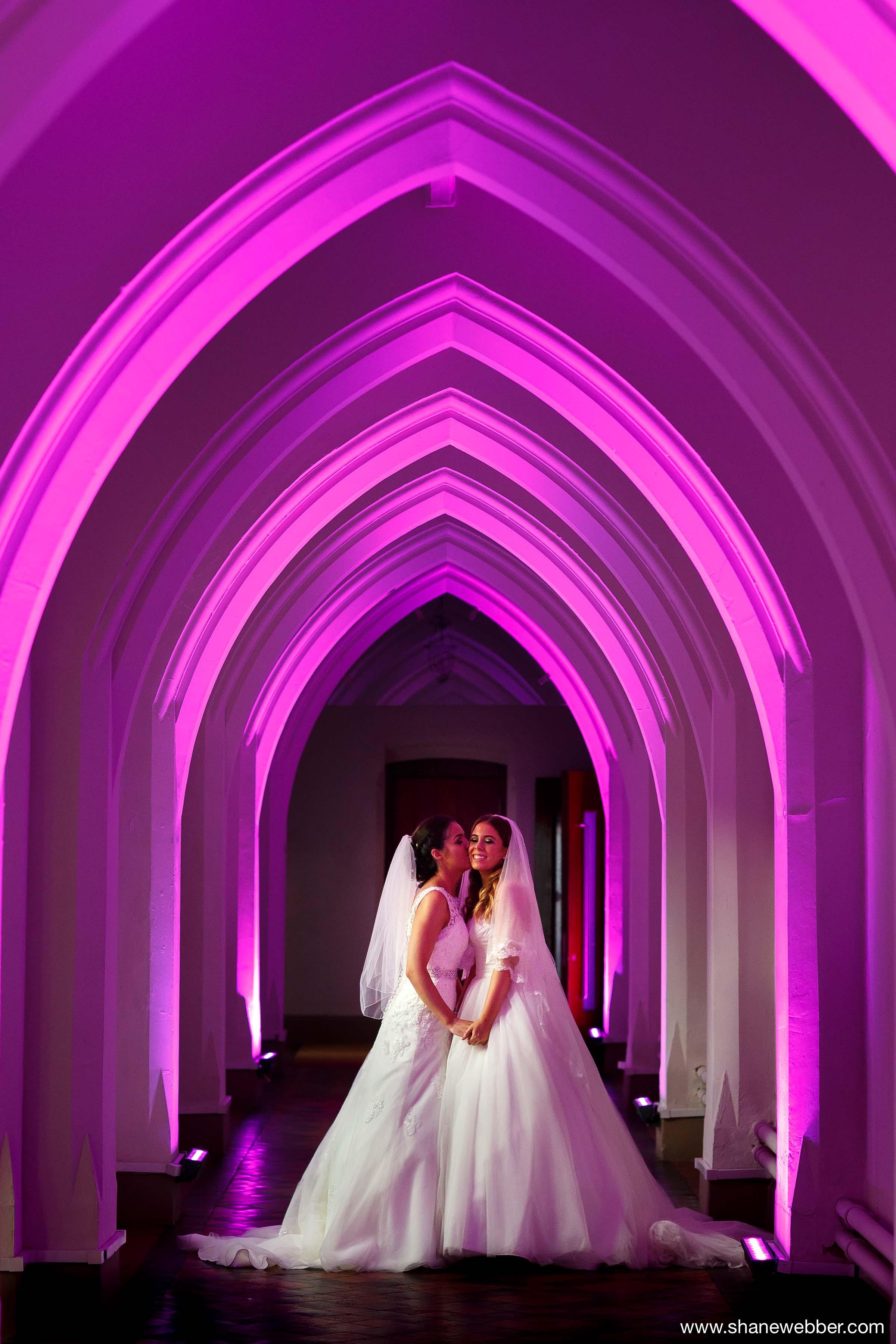 Same sex wedding photography at the Gorton Monastery Manchester