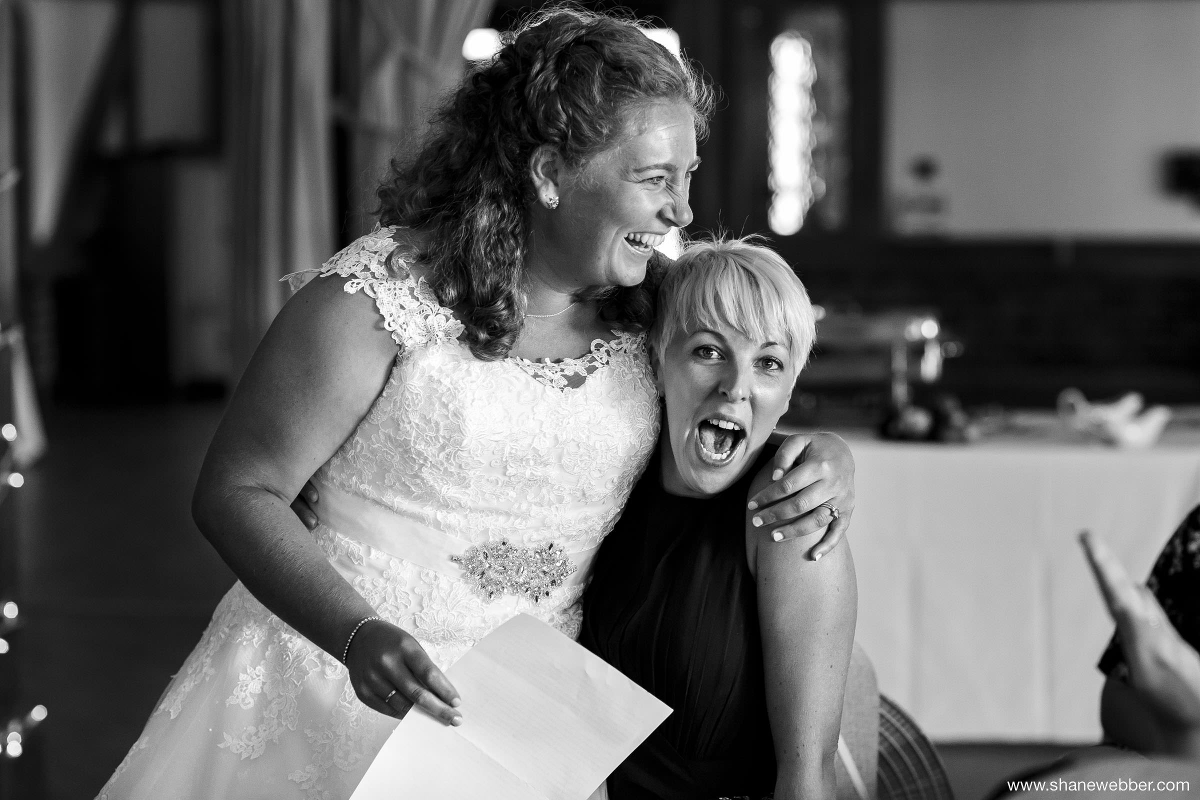 Natural wedding photos at speeches