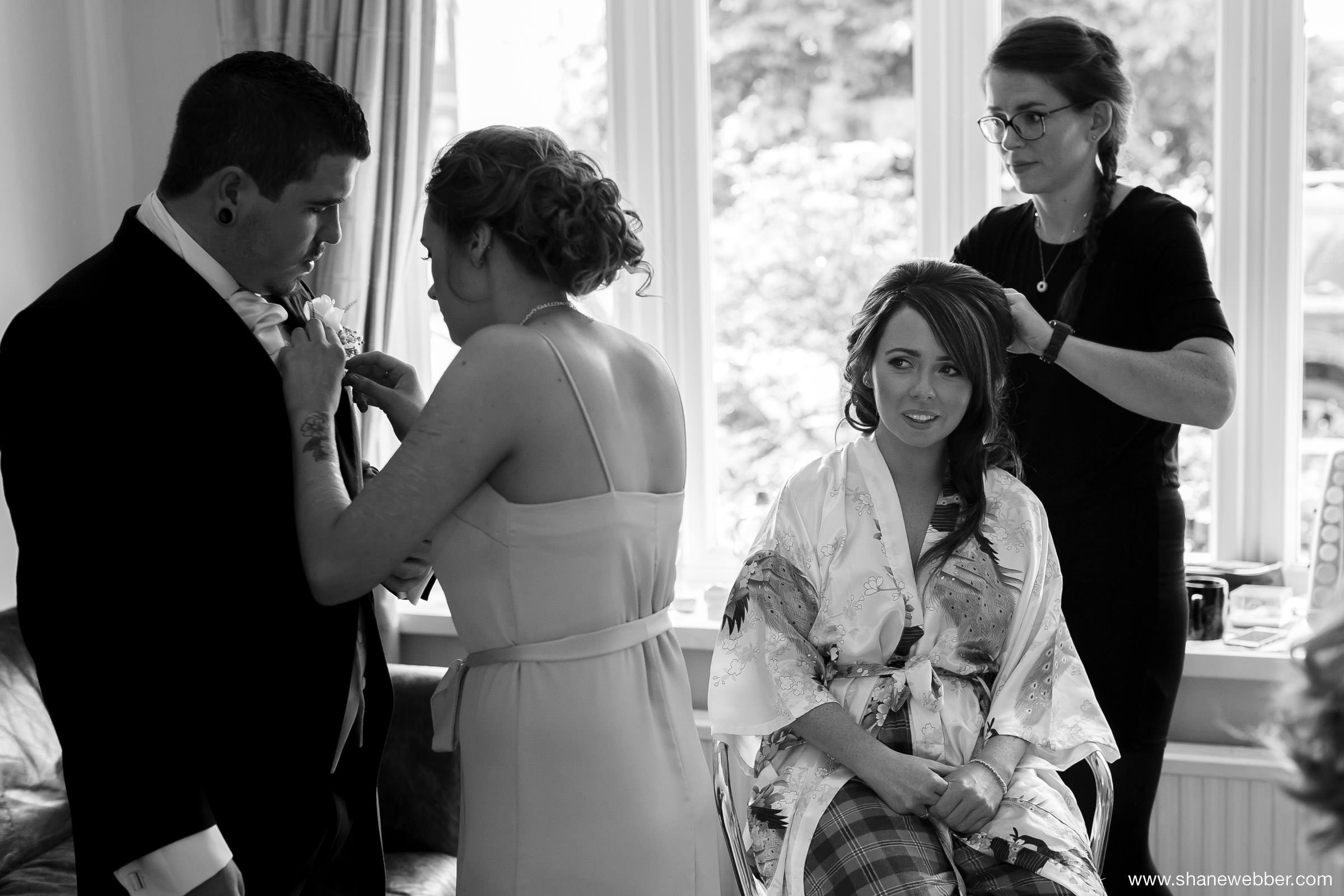 Bridal preparation by Flossy & Leigh MUA Manchester