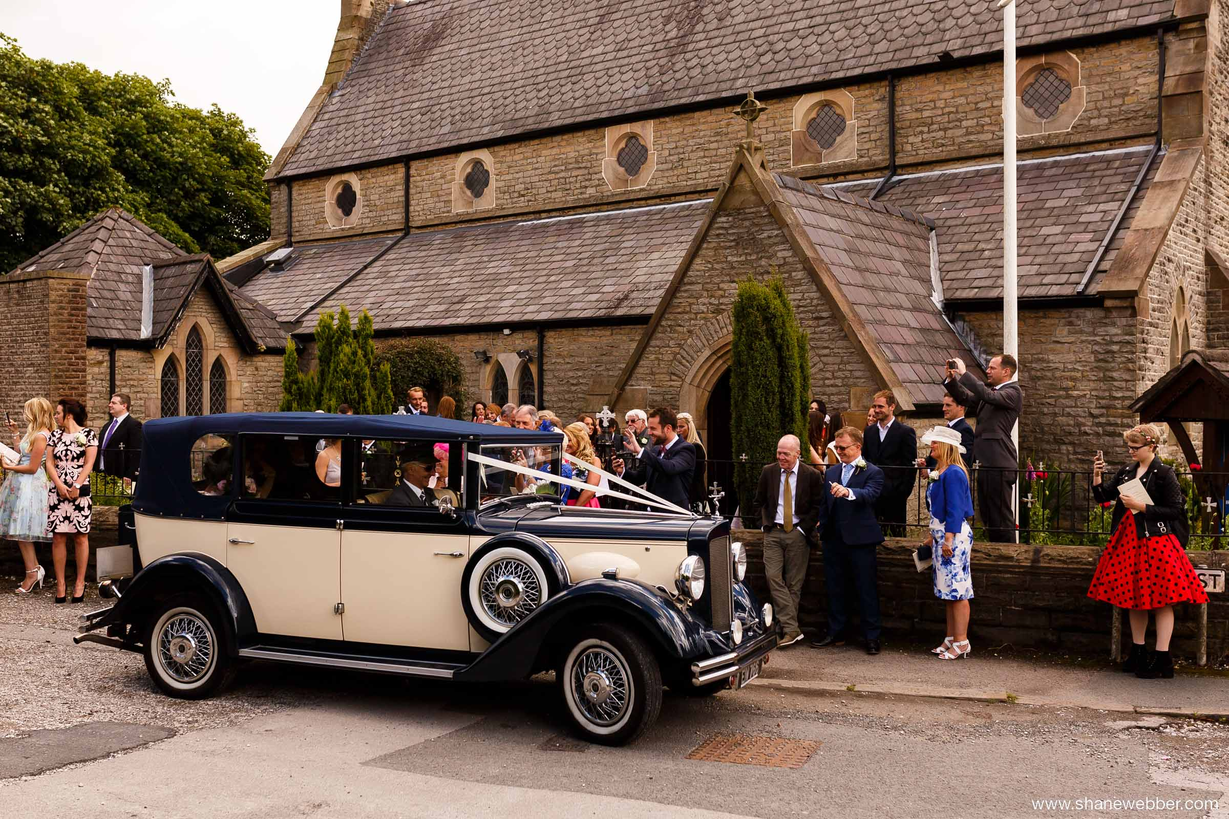 Wedding ceremony at a local church in Wigan