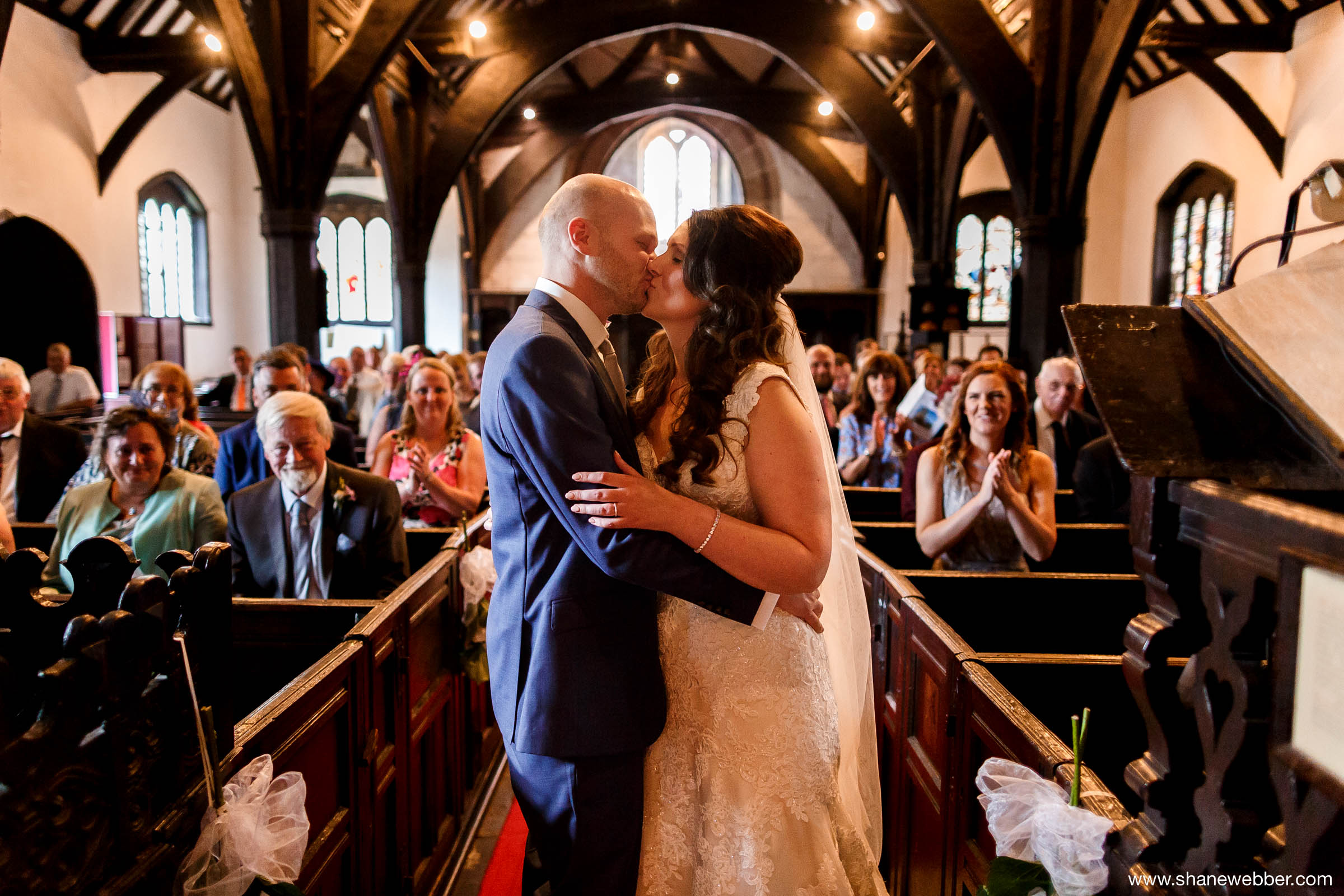Saint Oswald's Church in Lower Peover wedding photography