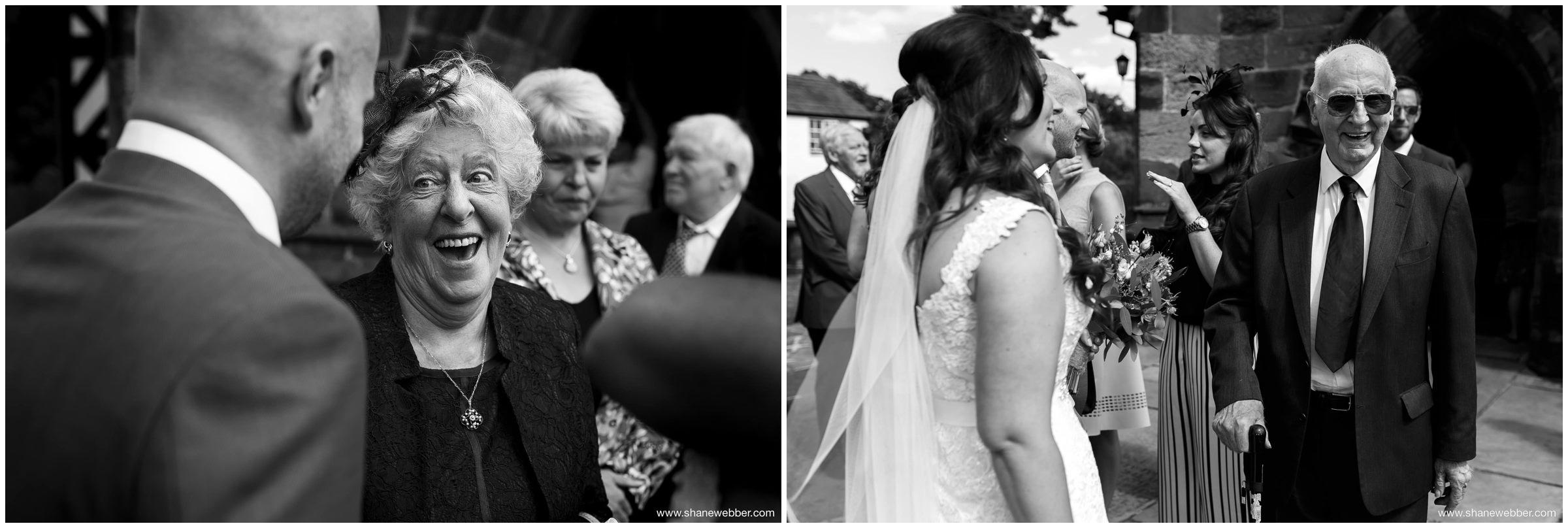 Black and white natural wedding photos