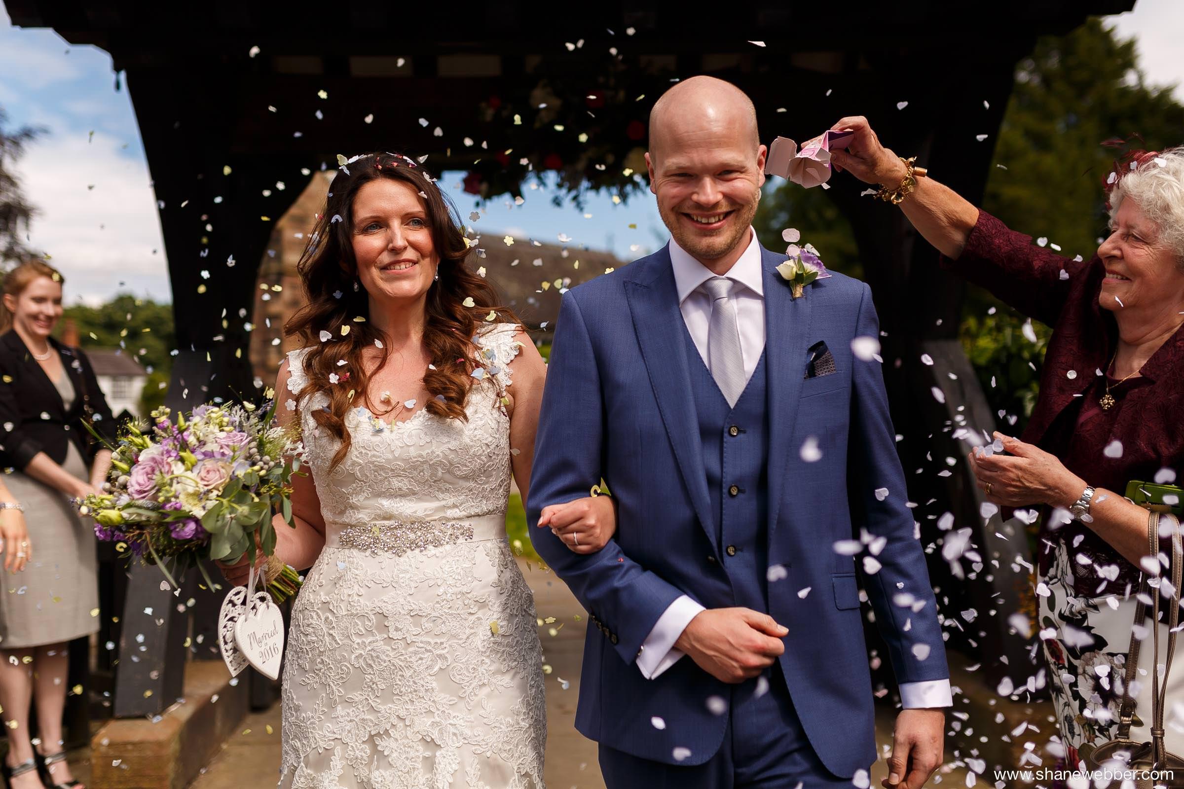 Confetti summer wedding photography