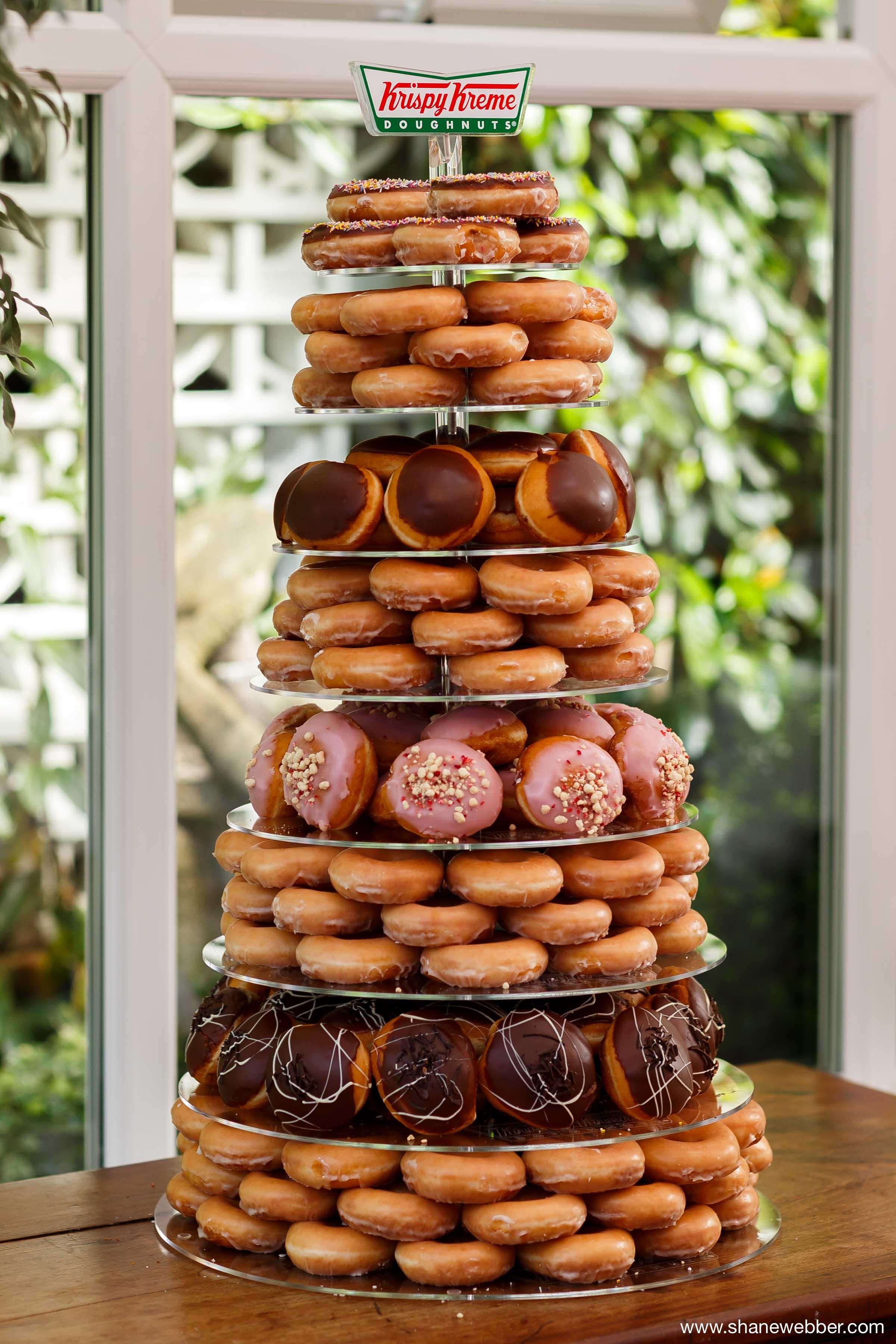 Krispy Creme Doughnut Wedding Cake