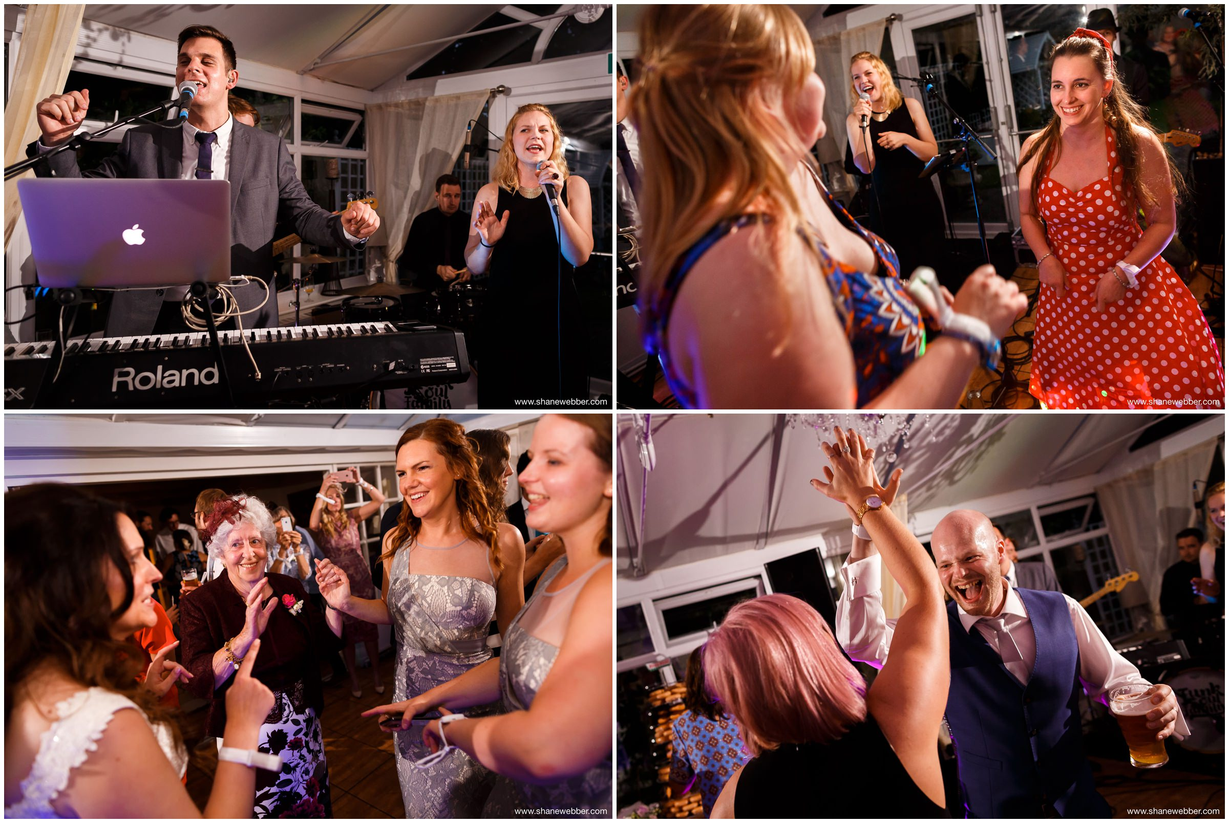 Guests enjoying the wedding reception
