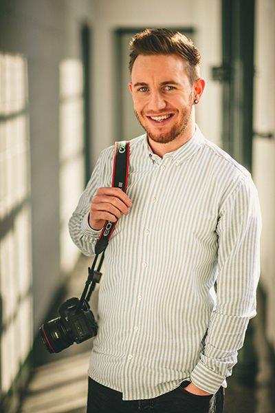 Portrait photo of Manchester Wedding Photographer Shane Webber