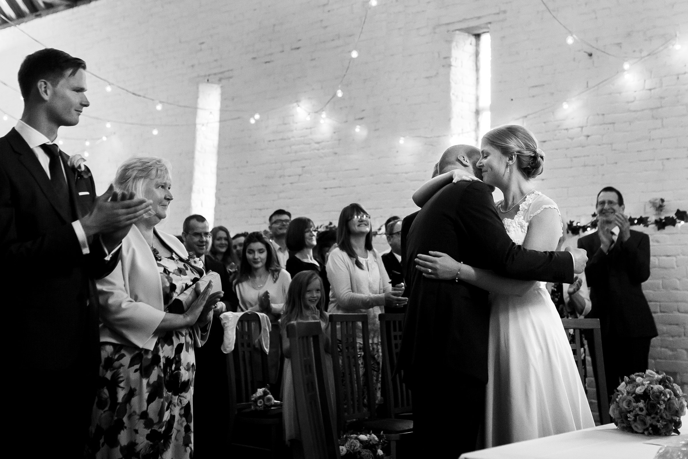 Natural black and white wedding photography