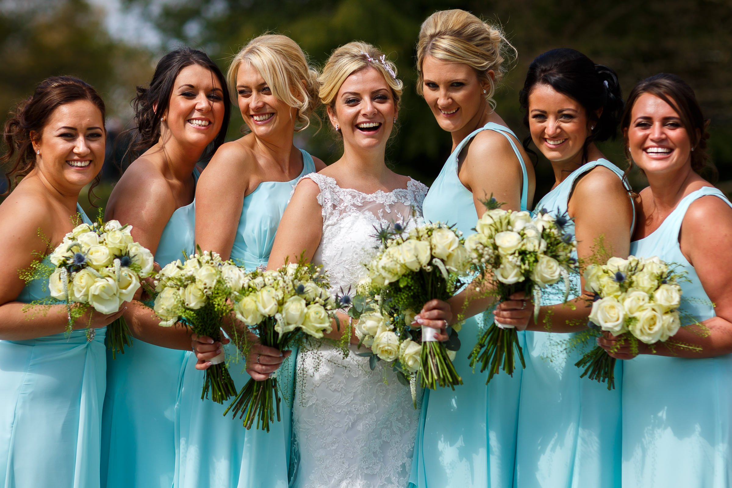 Bright and colourful wedding photography