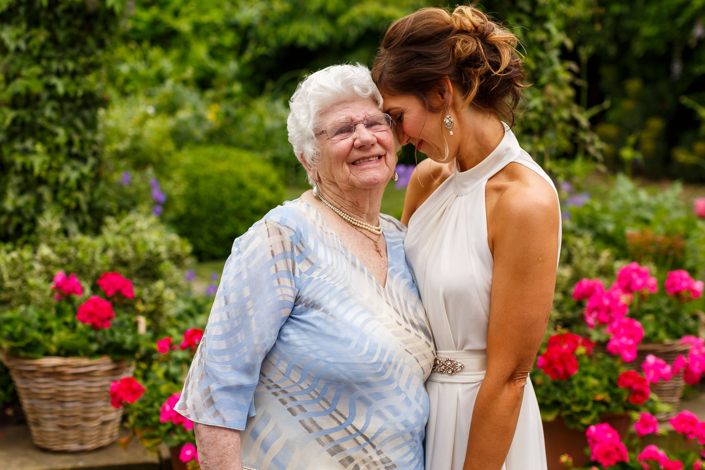 Bride with her grandma