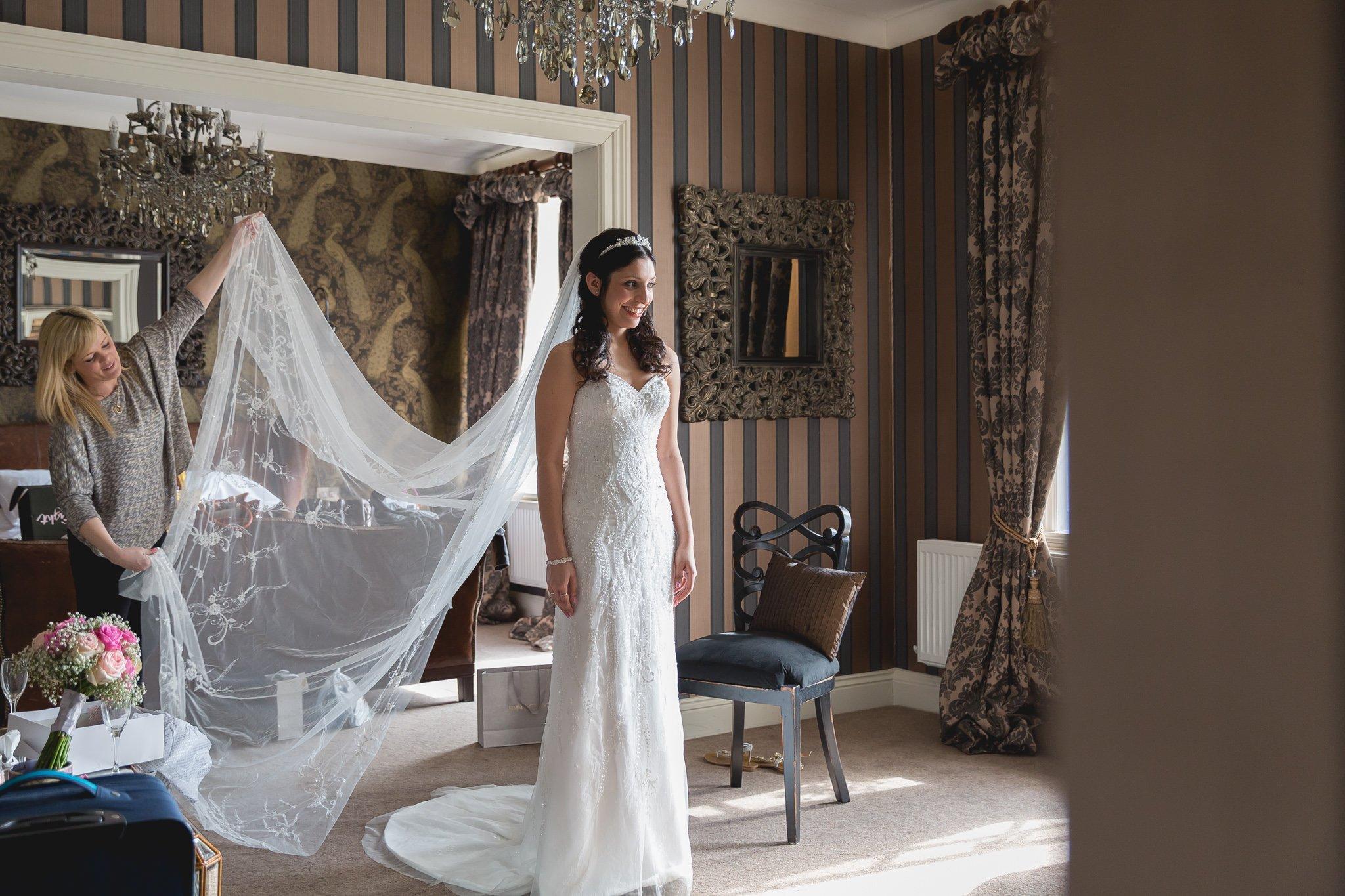 Bridal preparation at Eaves Hall