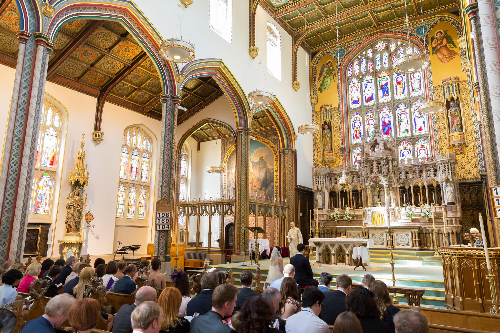 St Peter's RC Church Stonyhurst wedding