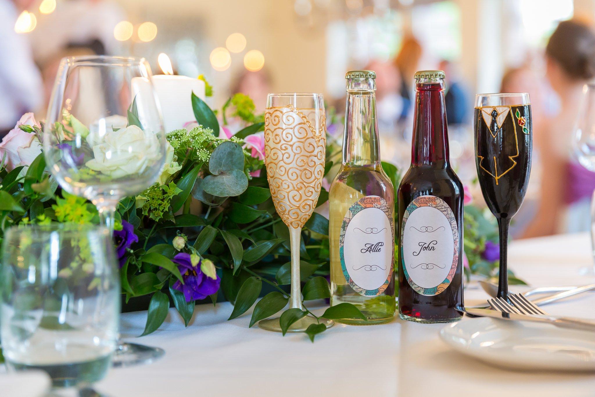 Home made wedding drinks