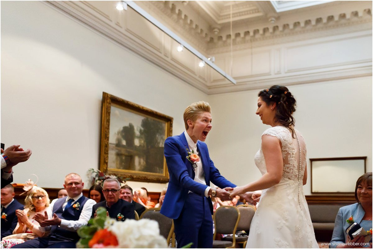 Same sex marriage at St Georges Hall Liverpool