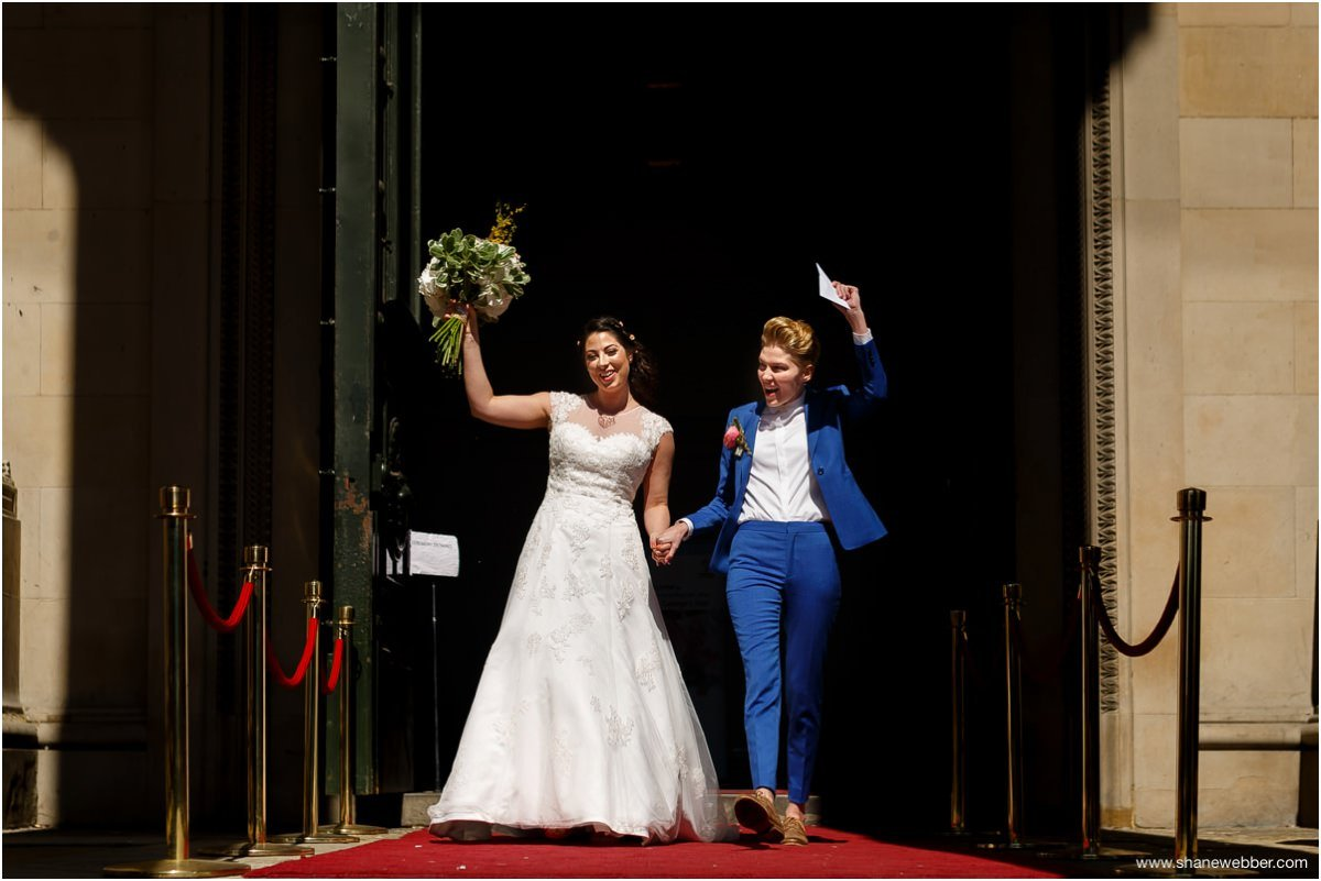 Bride and bride happily married