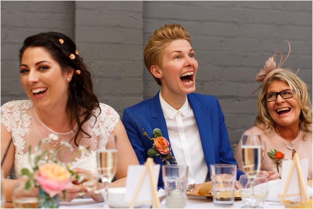Speeches at lesbian Liverpool wedding