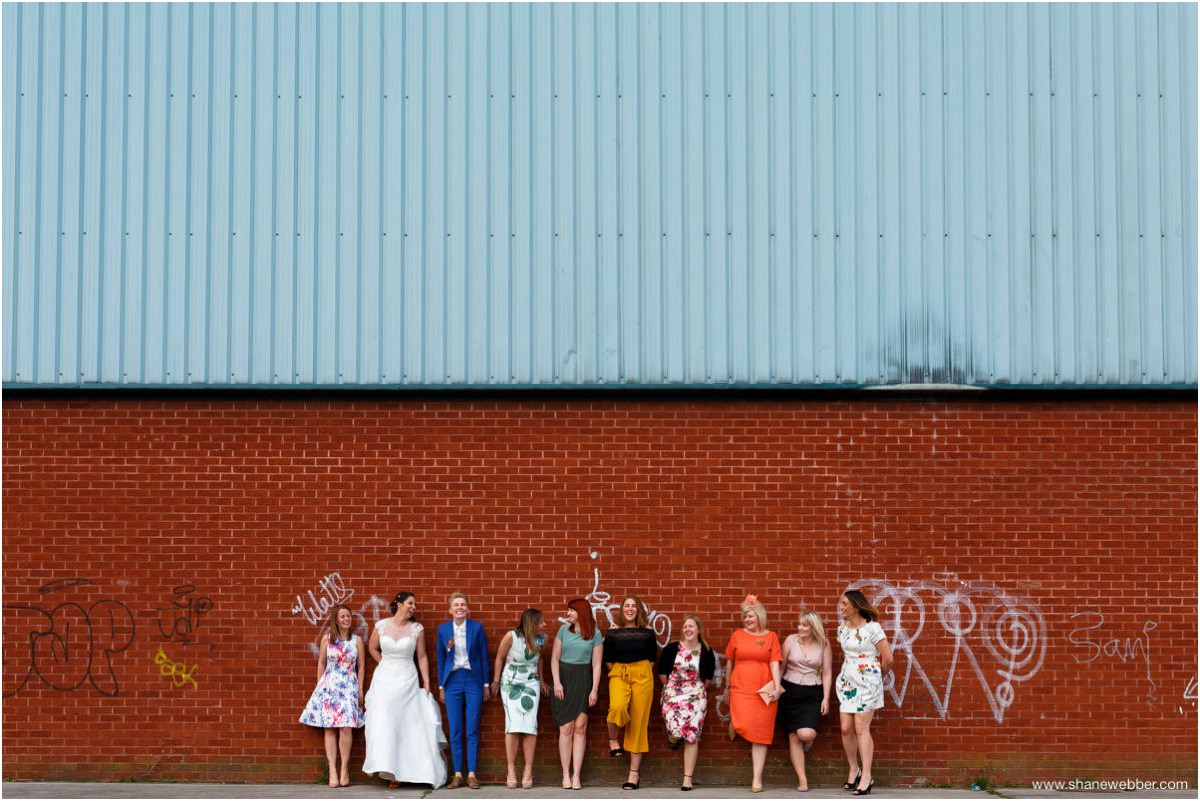 Photo of brides and bridesmaids