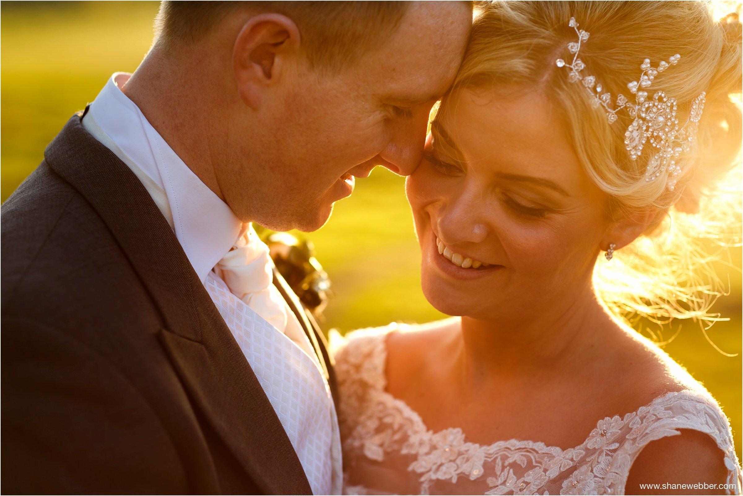 Sunset wedding photos at Rivington Hall Barn