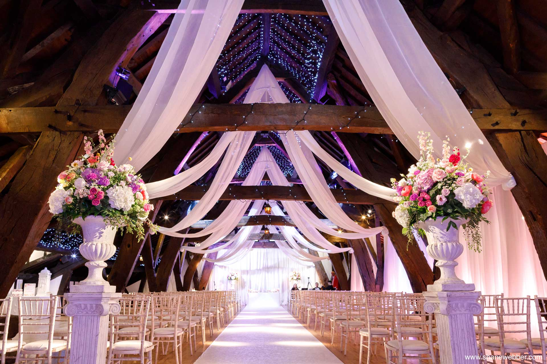 Rivington Hall Barn wedding ceremony room