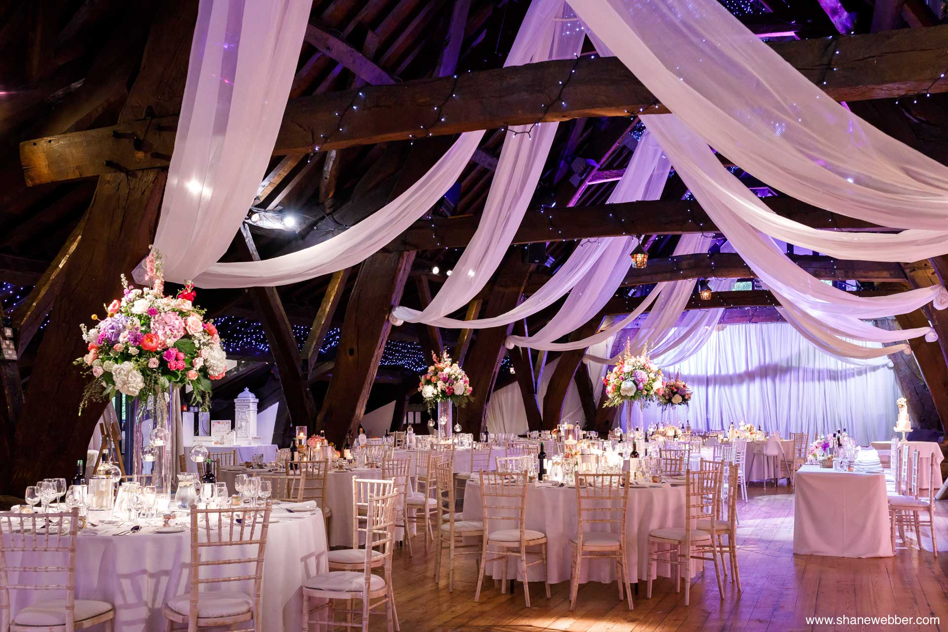 Rivington Hall Barn wedding reception