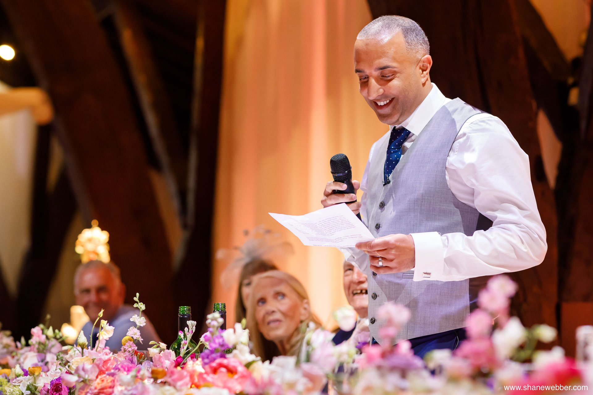 Wedding speech photography