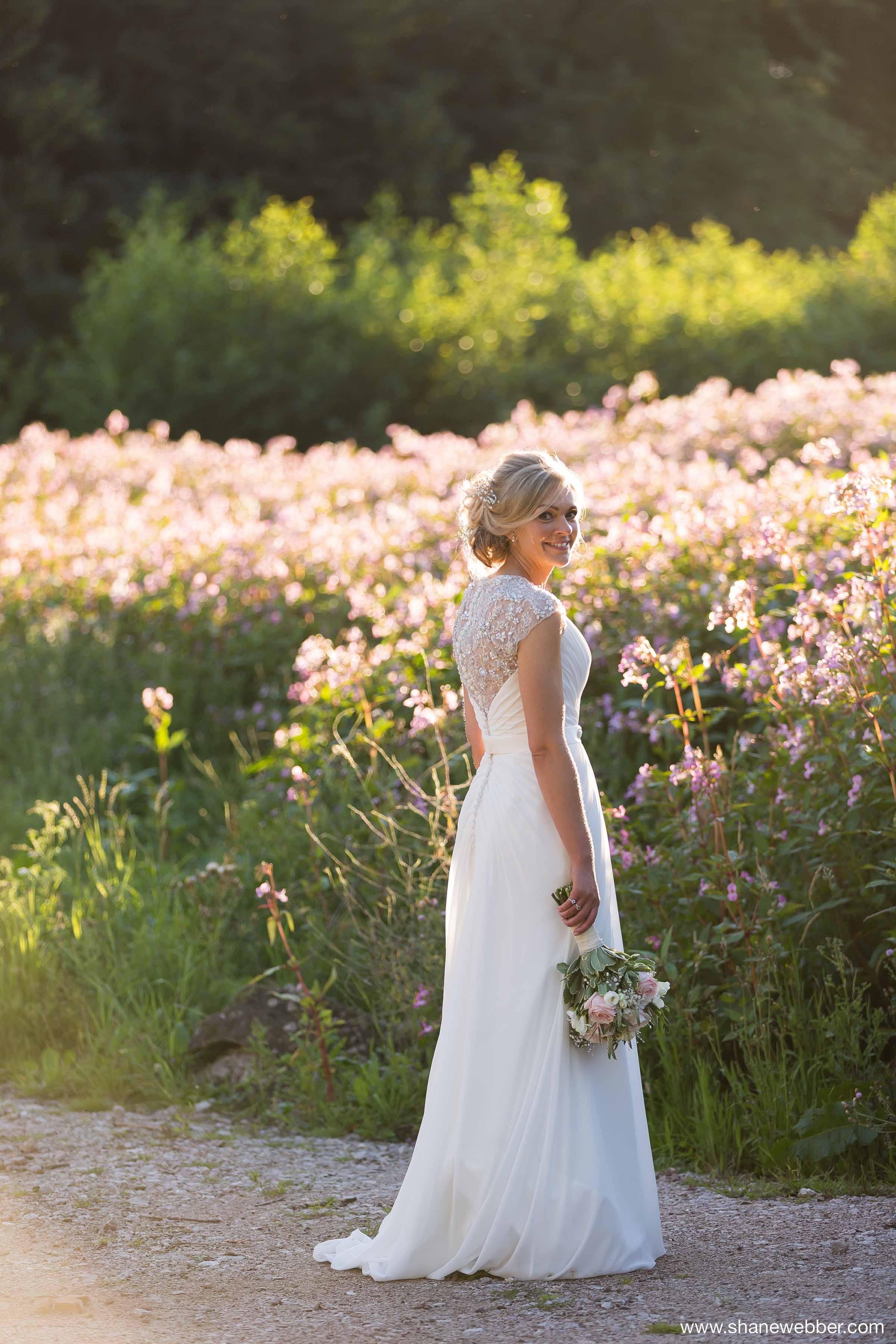 Natural Sunset Wedding Photos