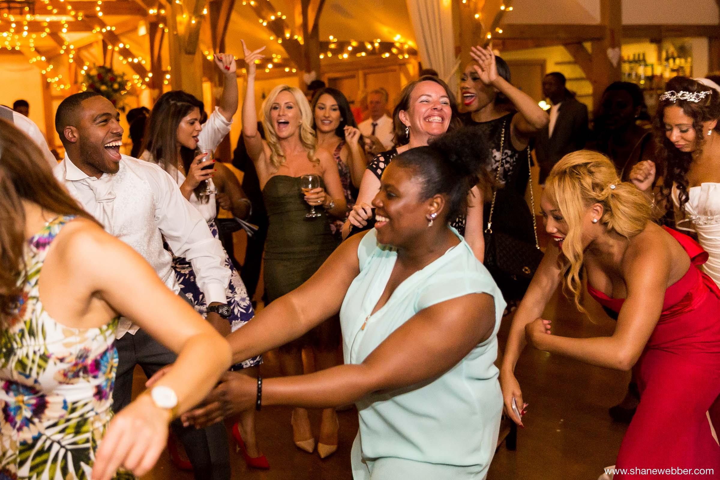 Natural party photos at wedding