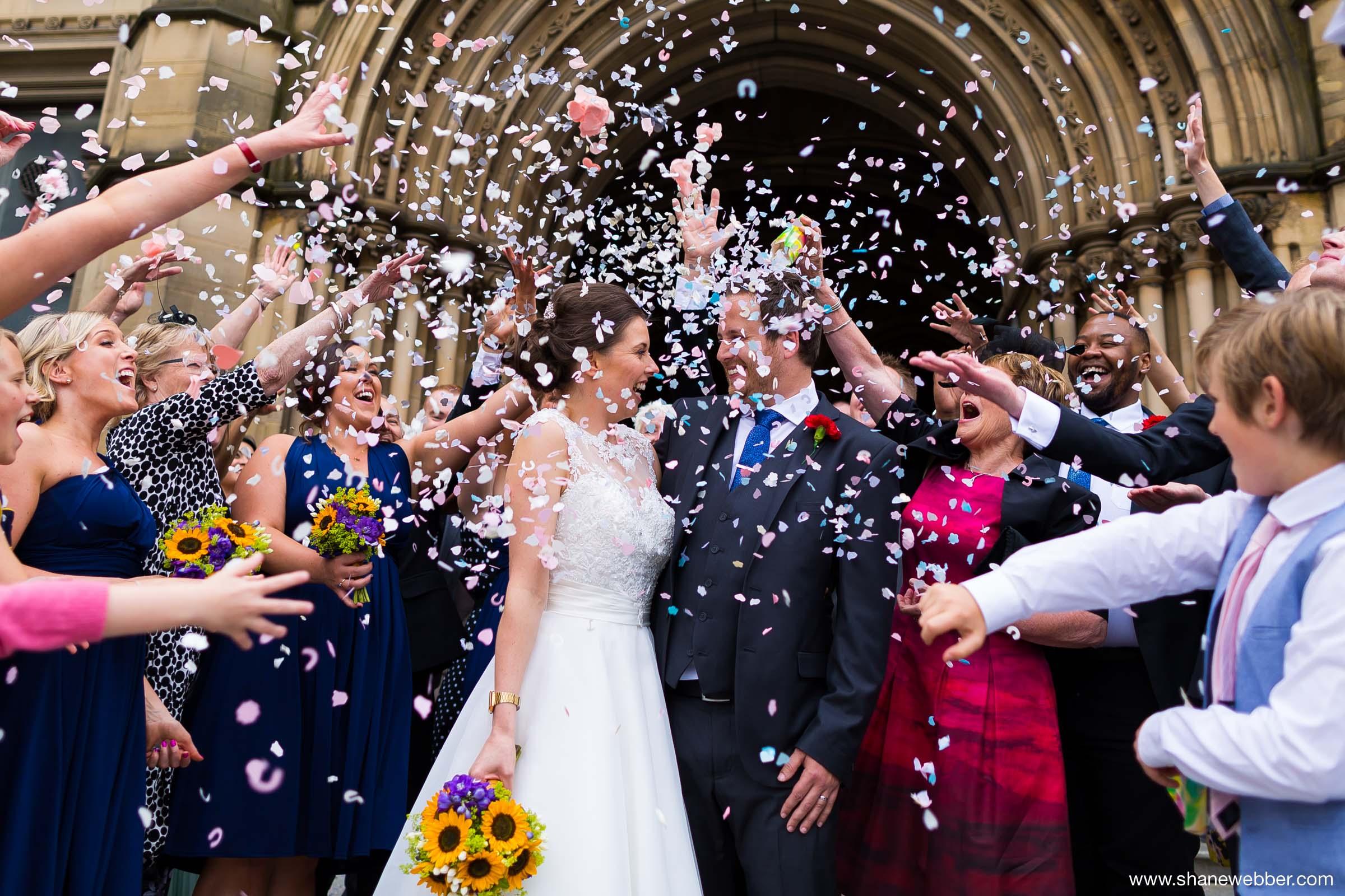 Confetti Wedding Photo Manchester