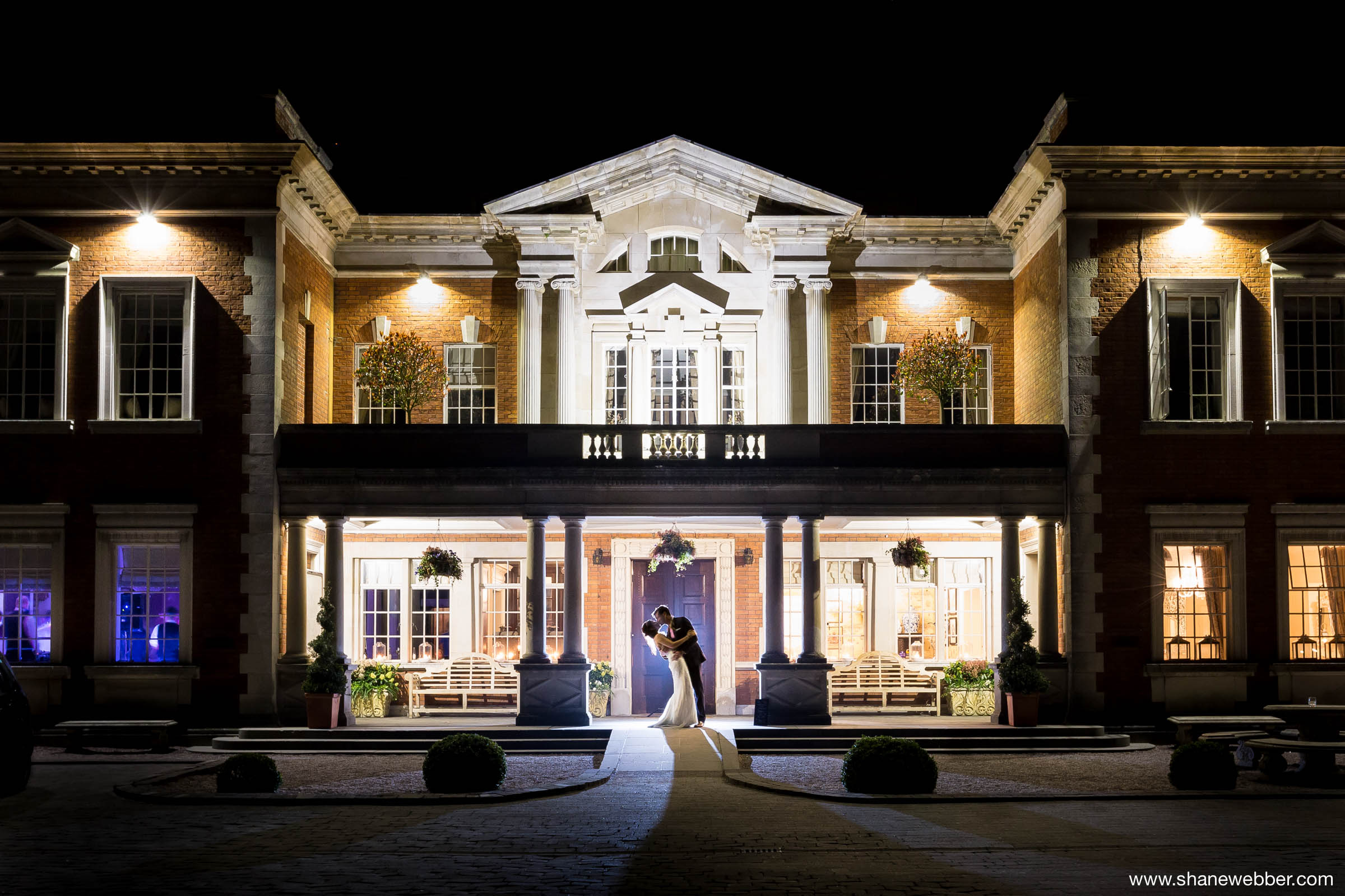 Eaves Hall Wedding Photography at night
