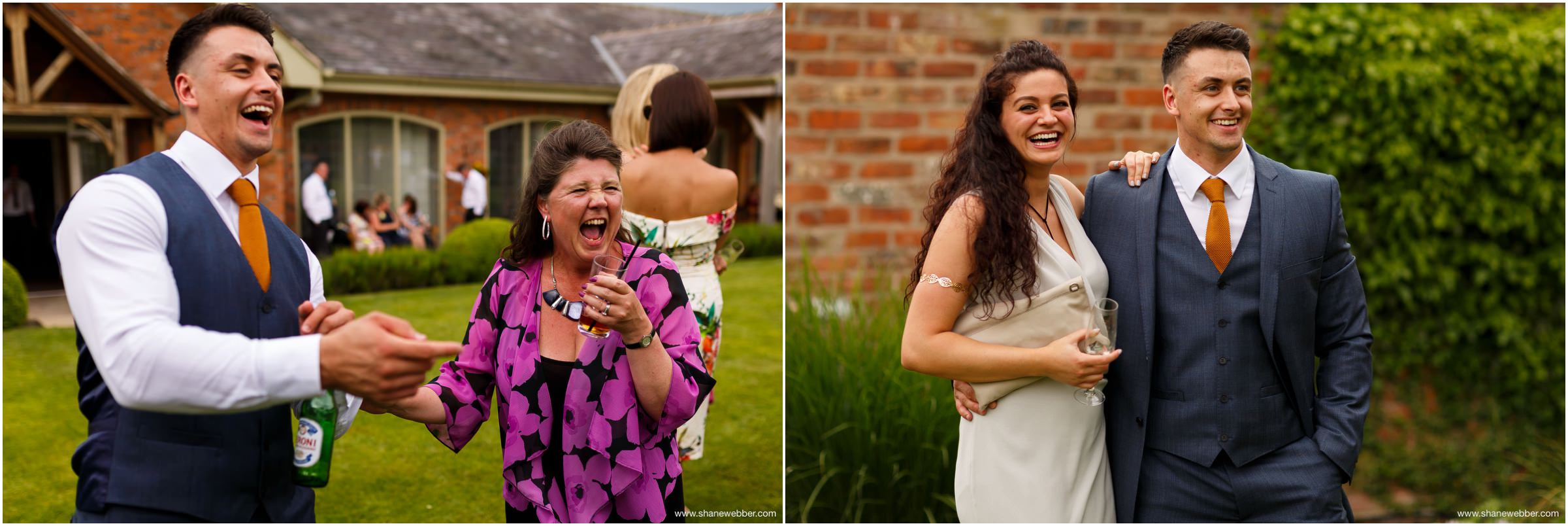 Natural wedding photos at Colshaw Hall