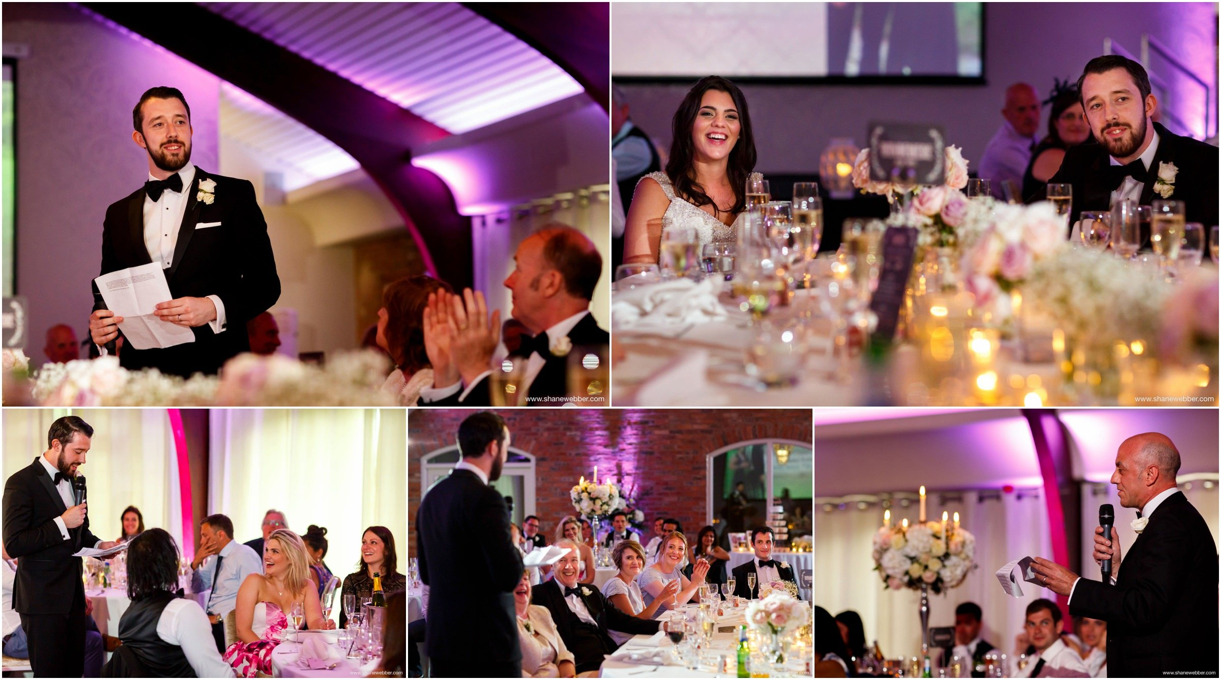 Photos of wedding speeches