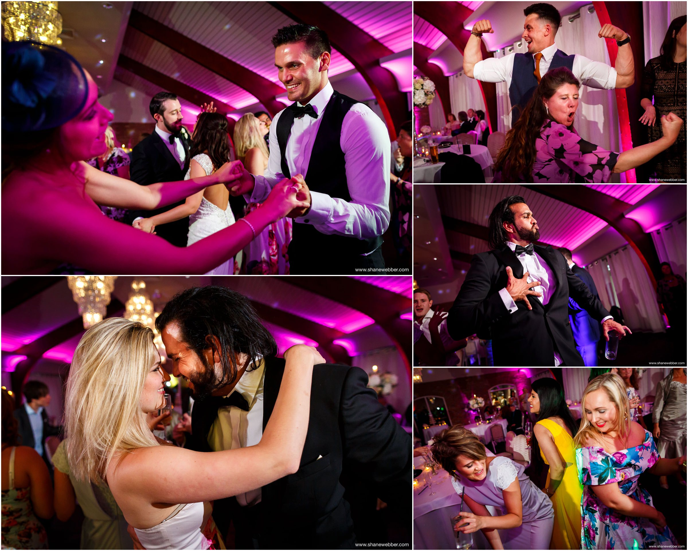 Wedding party photos at Colshaw Hall