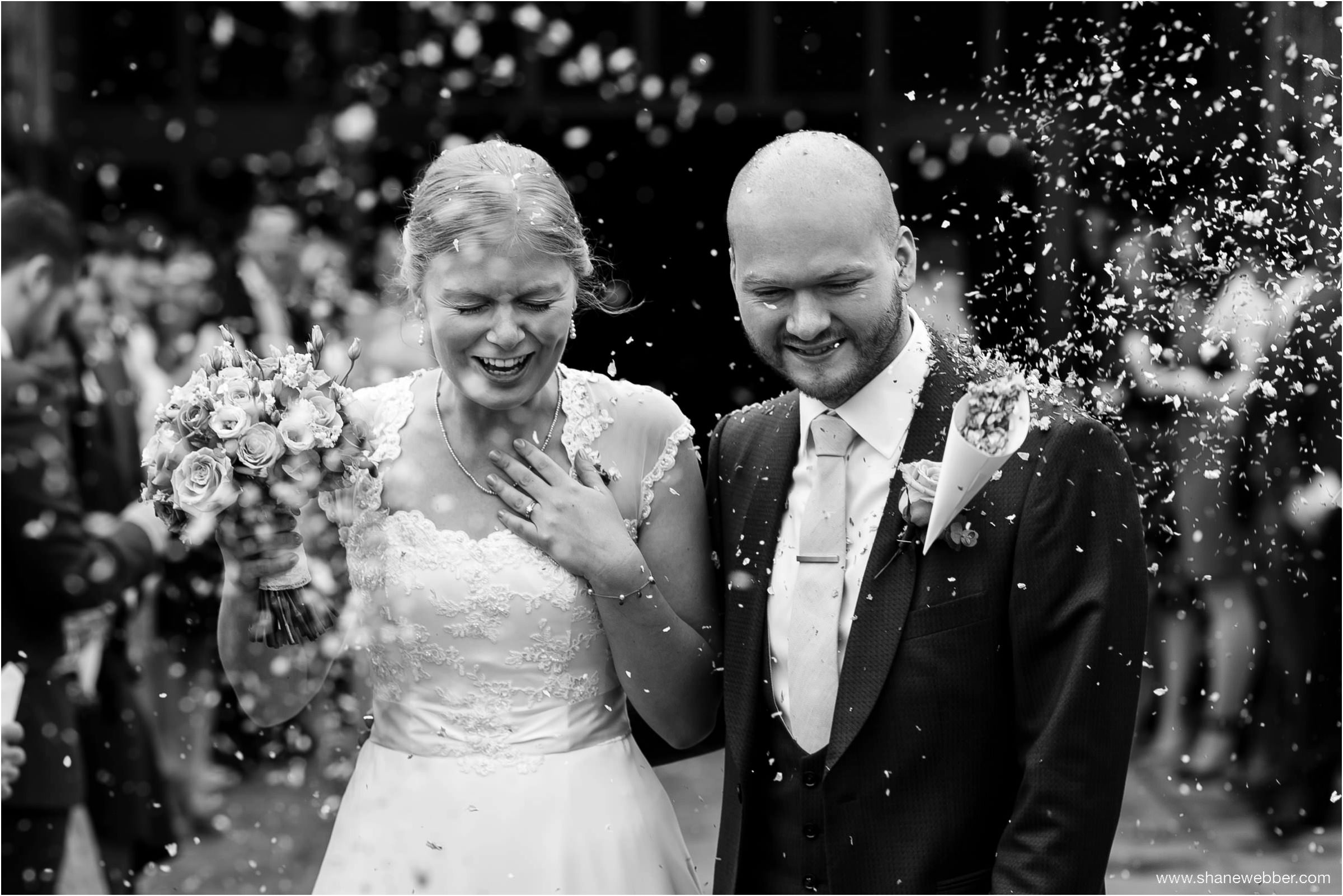 Confetti at summer wedding
