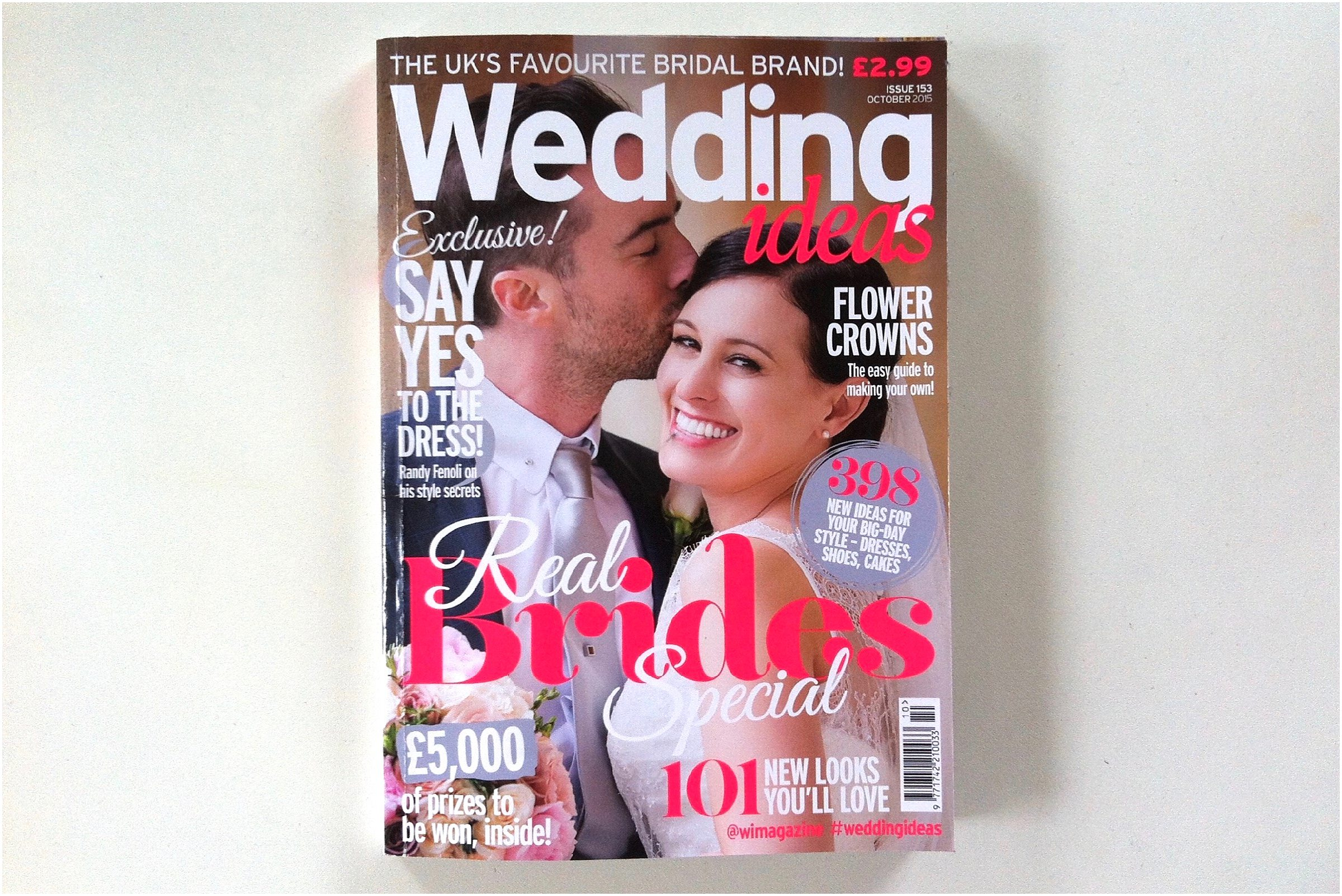 Wedding Ideas Magazine Feature October 2015 Front Cover
