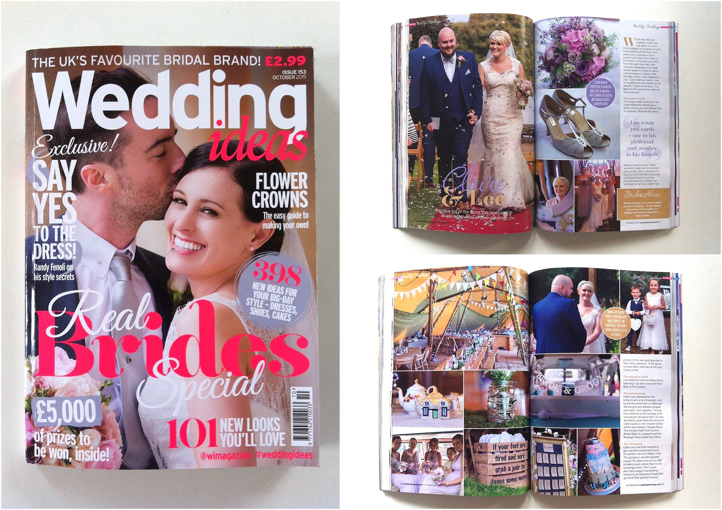 Wedding Ideas Magazine October 2015 Photography Feature