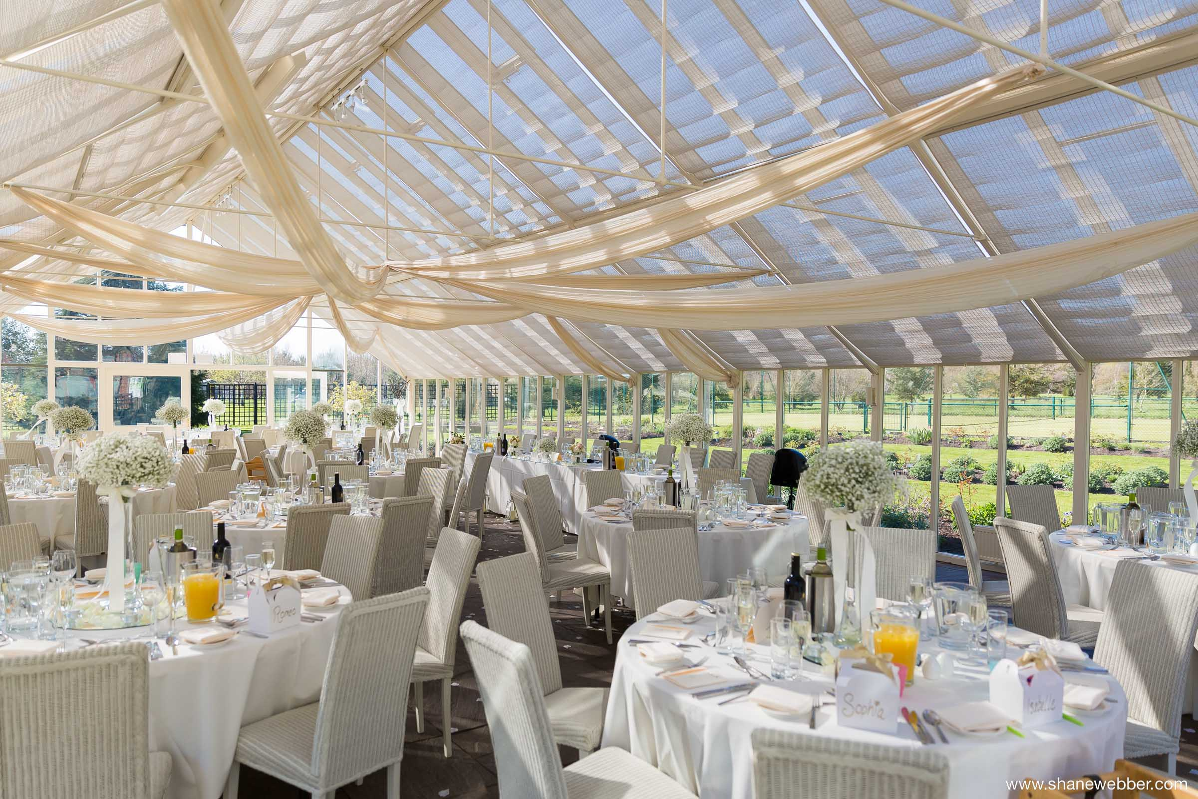 Abbeywood Estate Wedding Reception Conservatory